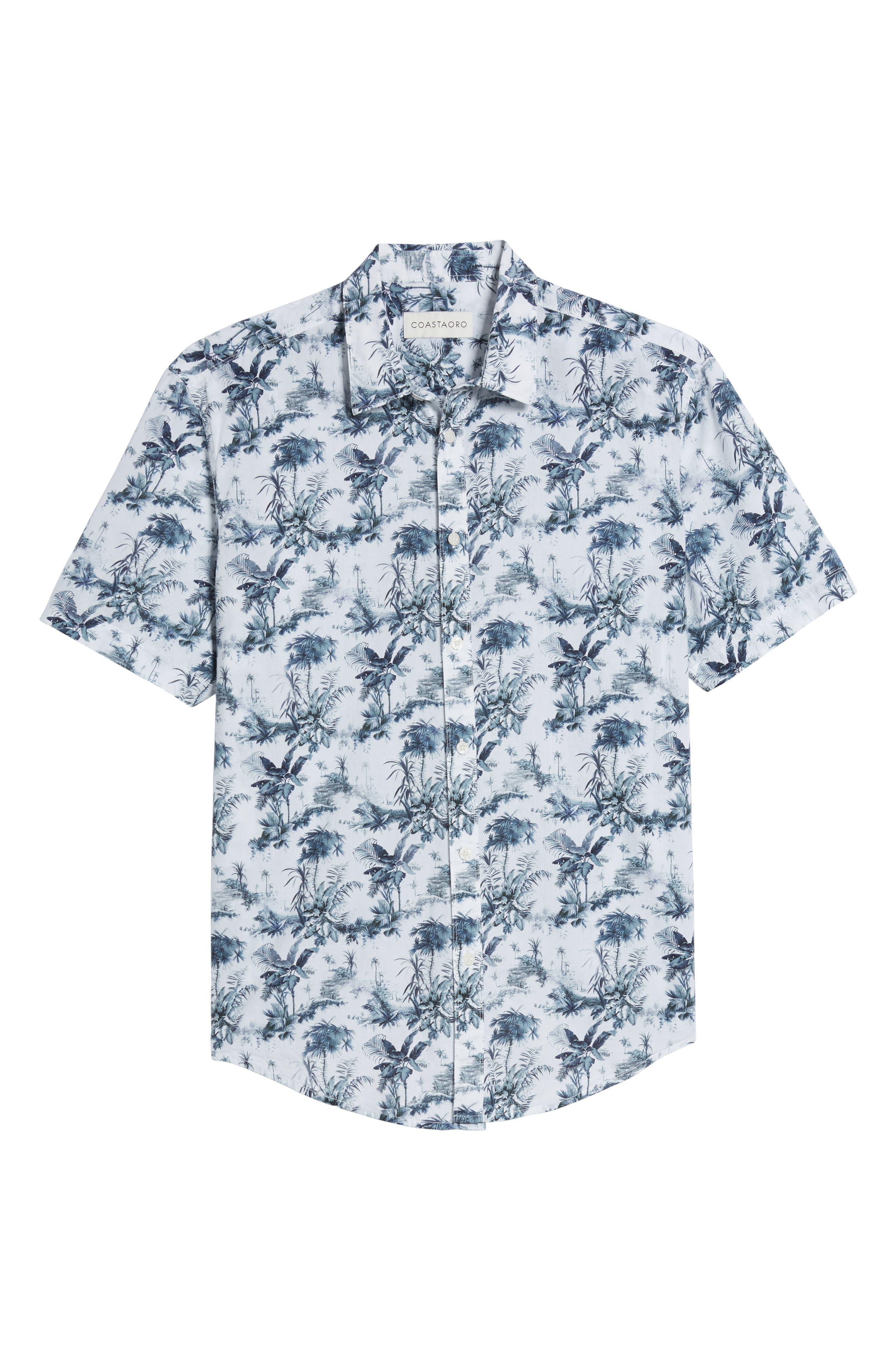 Waiki Regular Fit Short Sleeve Sport Shirt,                             Alternate thumbnail 6, color,                             White