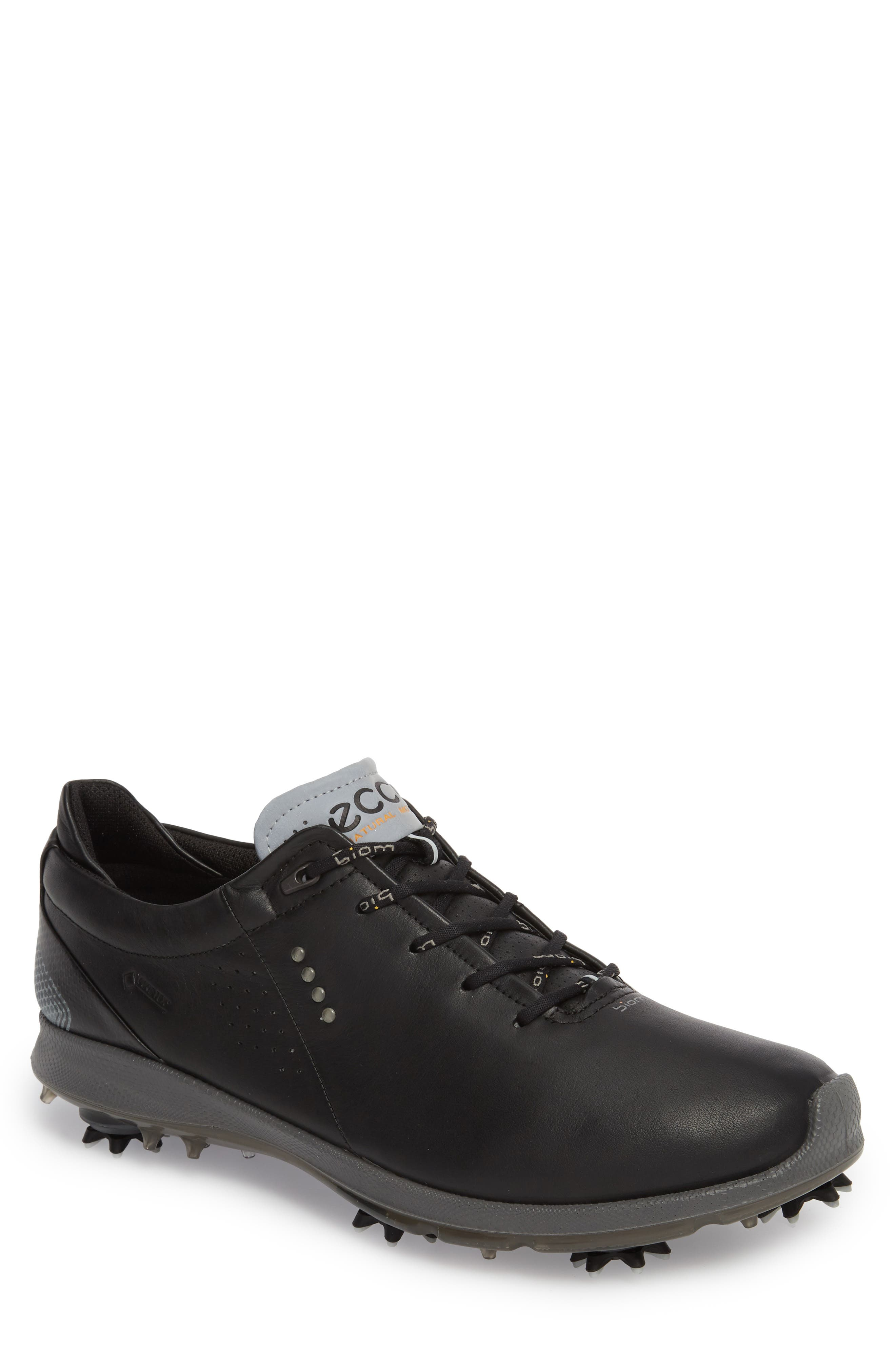 BIOM G 2 Free Gore-Tex<sup>®</sup> Golf Shoe,                         Main,                         color, Black Leather
