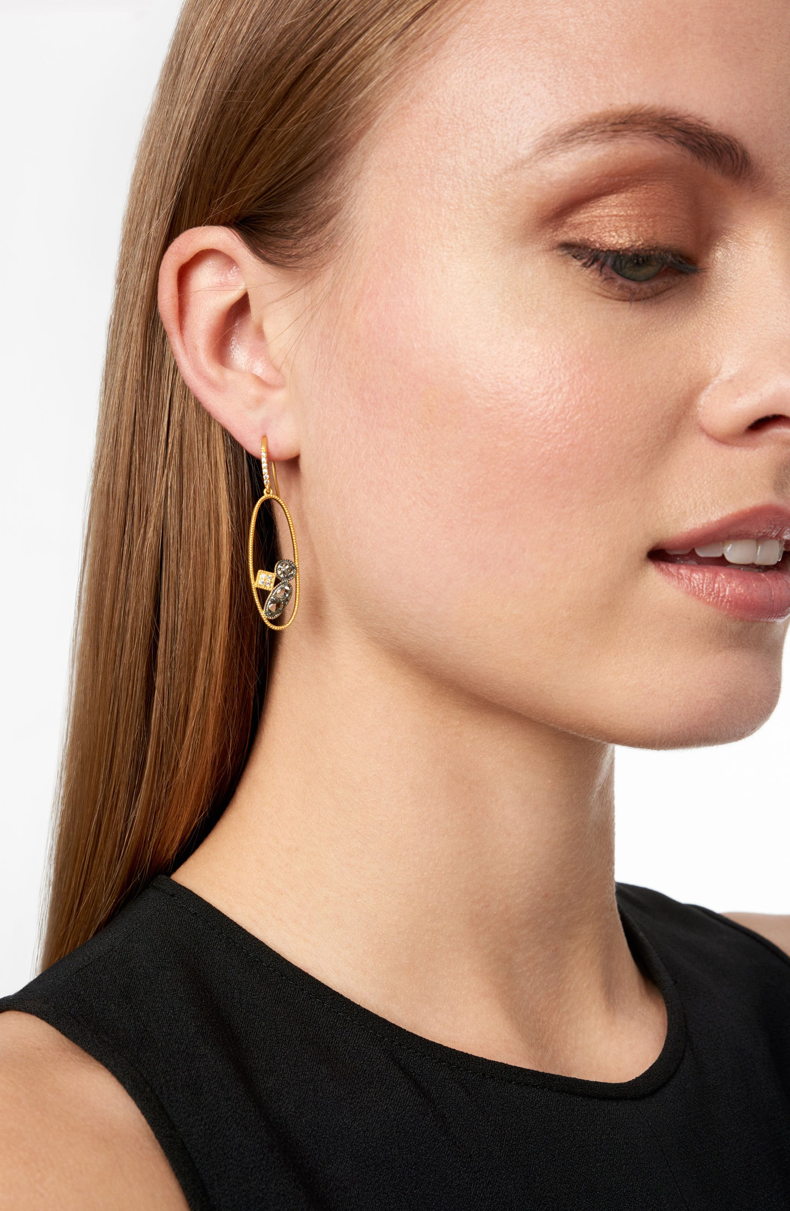 Rose Dor Open Drop Earrings,                             Alternate thumbnail 2, color,