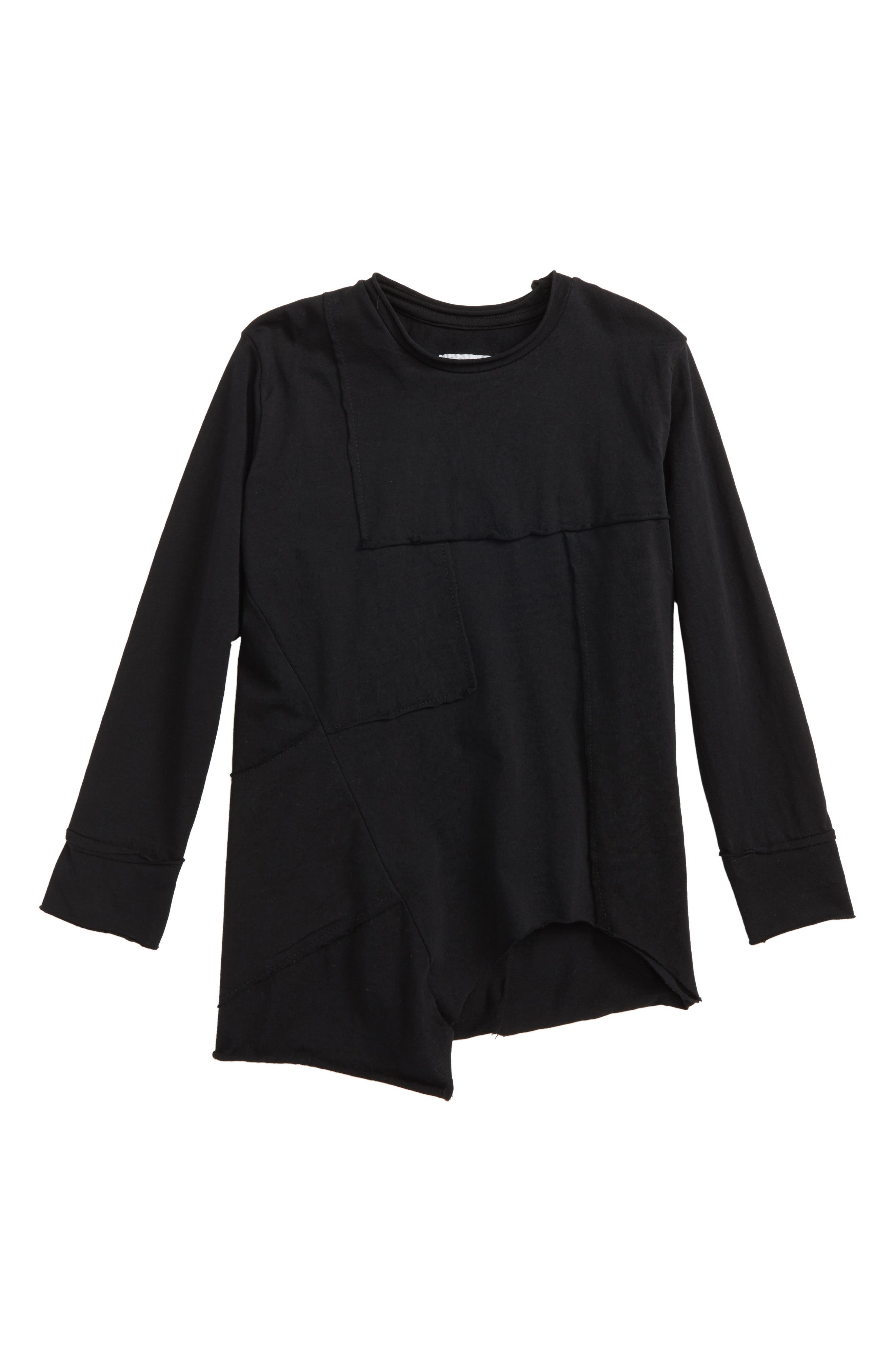 Patchwork Shirt,                             Main thumbnail 1, color,                             Black