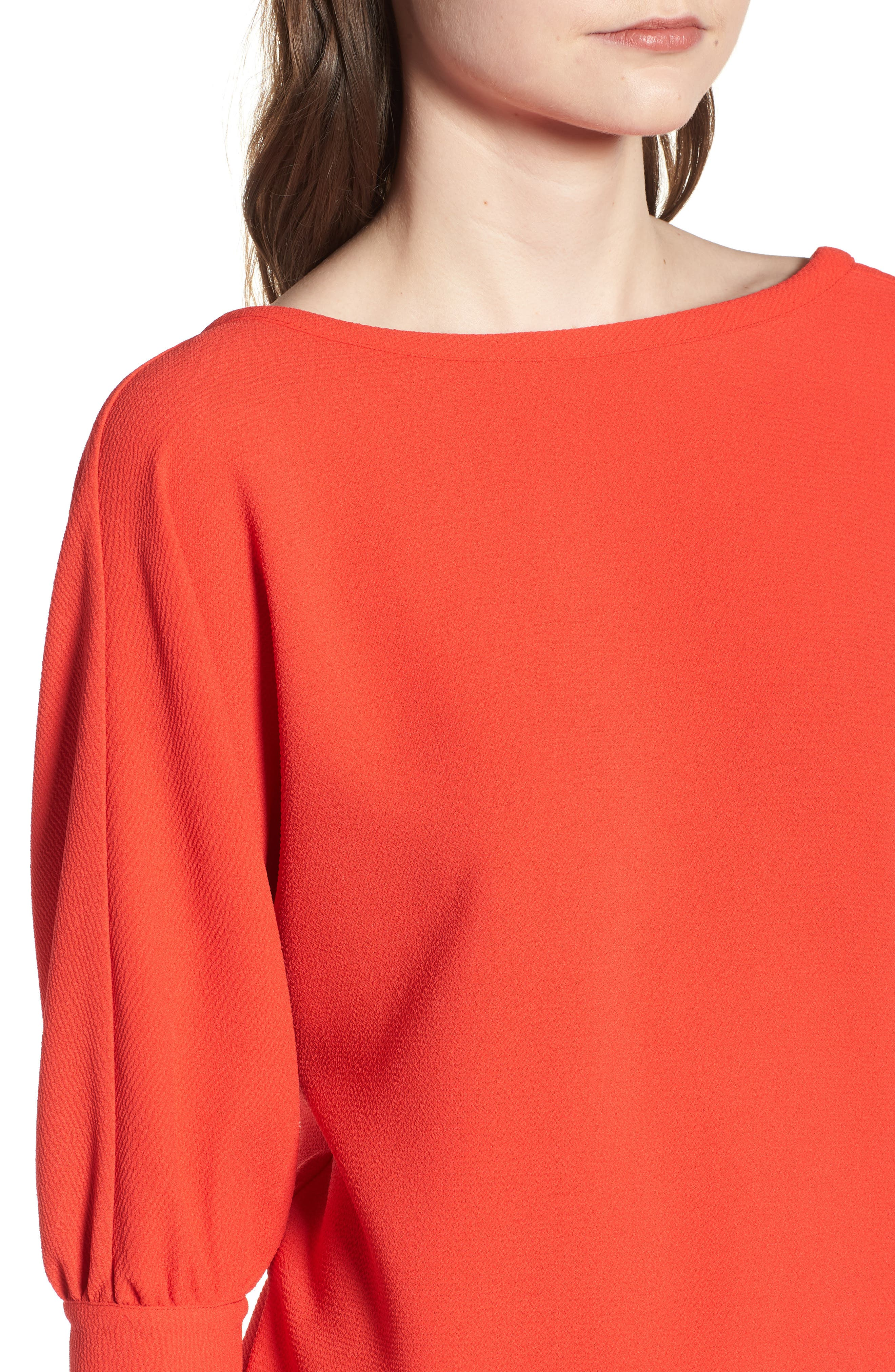 Dolman Sleeve Top,                             Alternate thumbnail 4, color,                             Red Poppy
