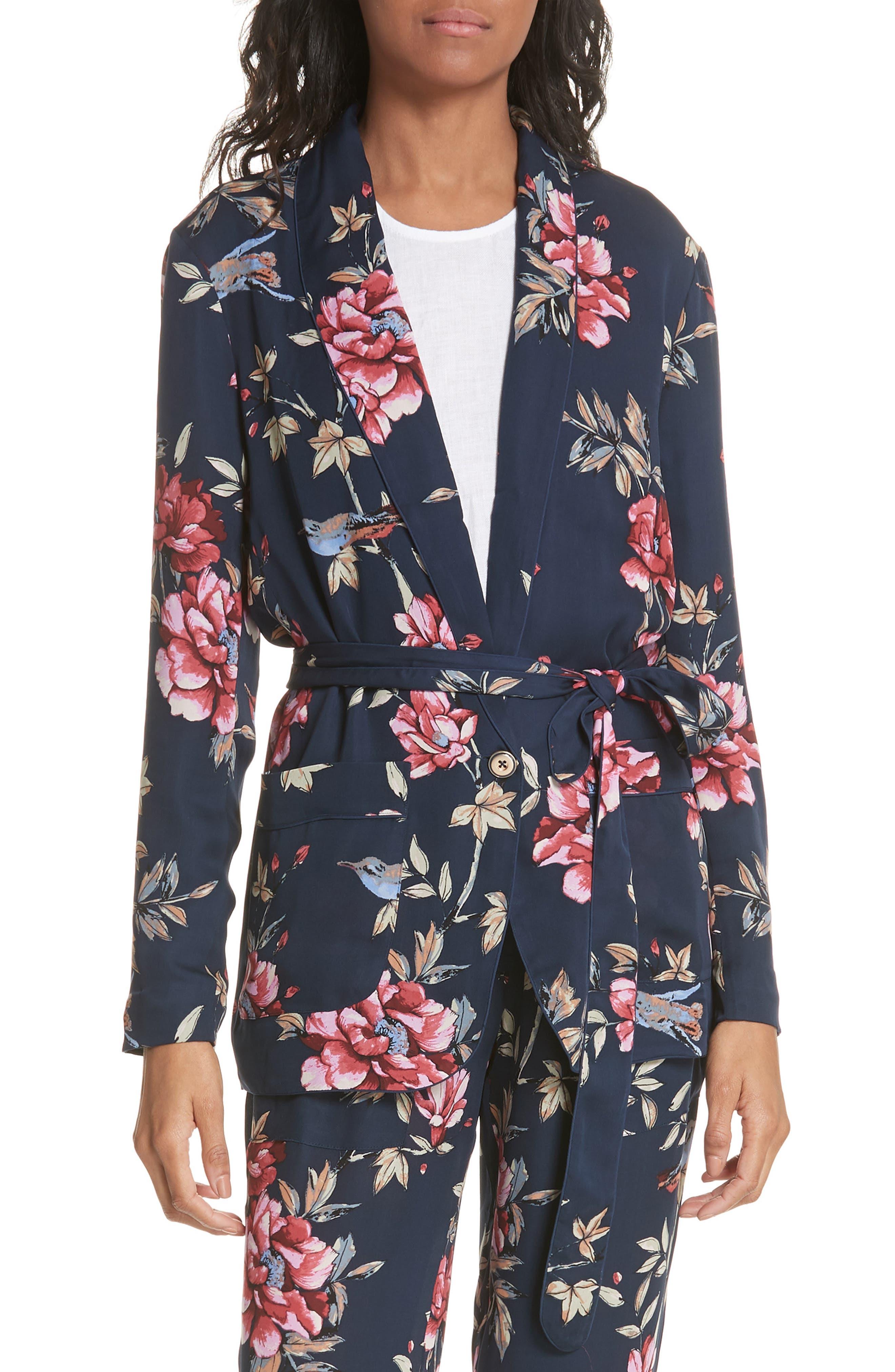 Joie Anasophia Tie Silk Blazer