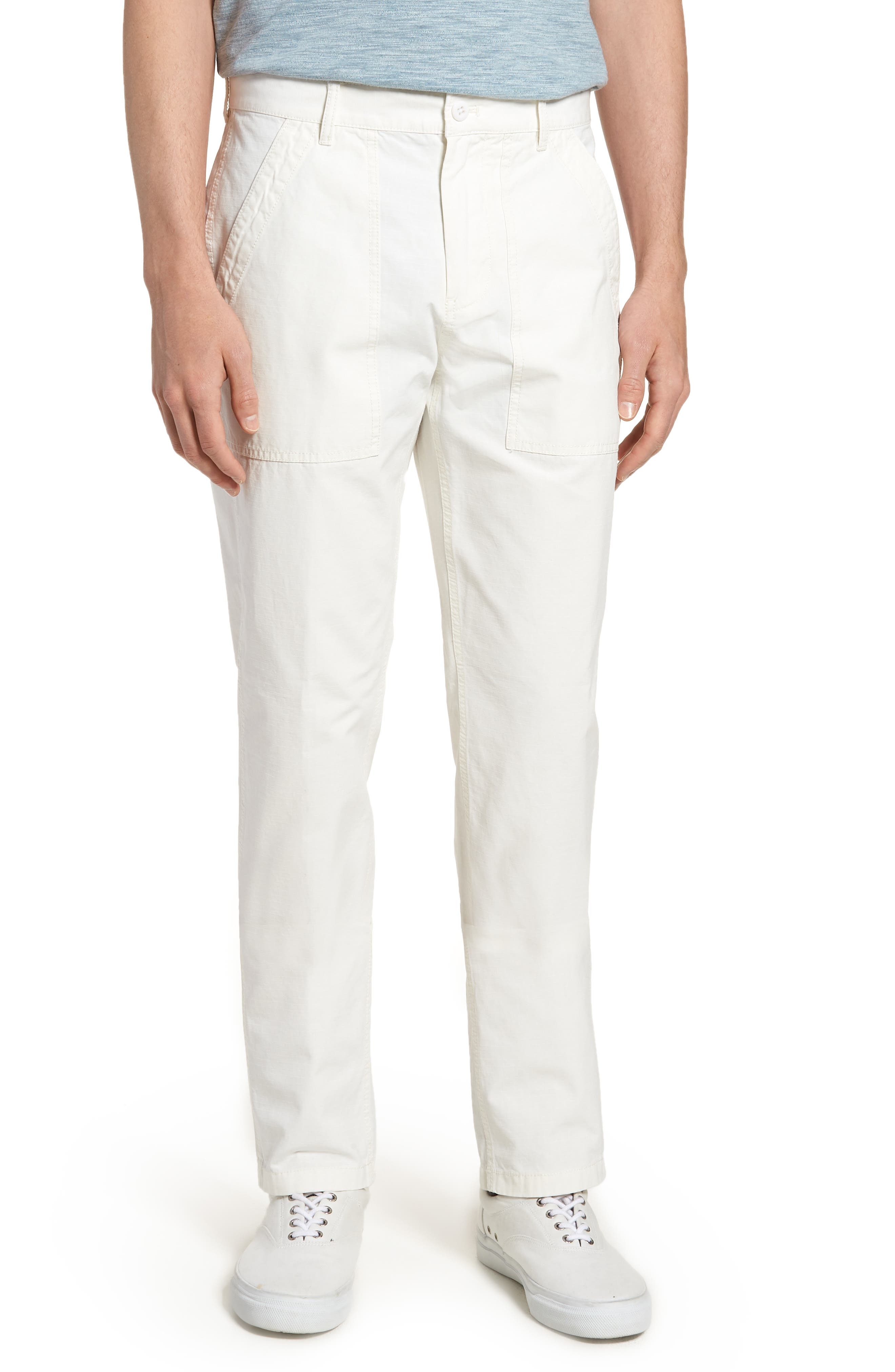 Main Image - J.Crew 770 Straight Fit Ripstop Camp Pants