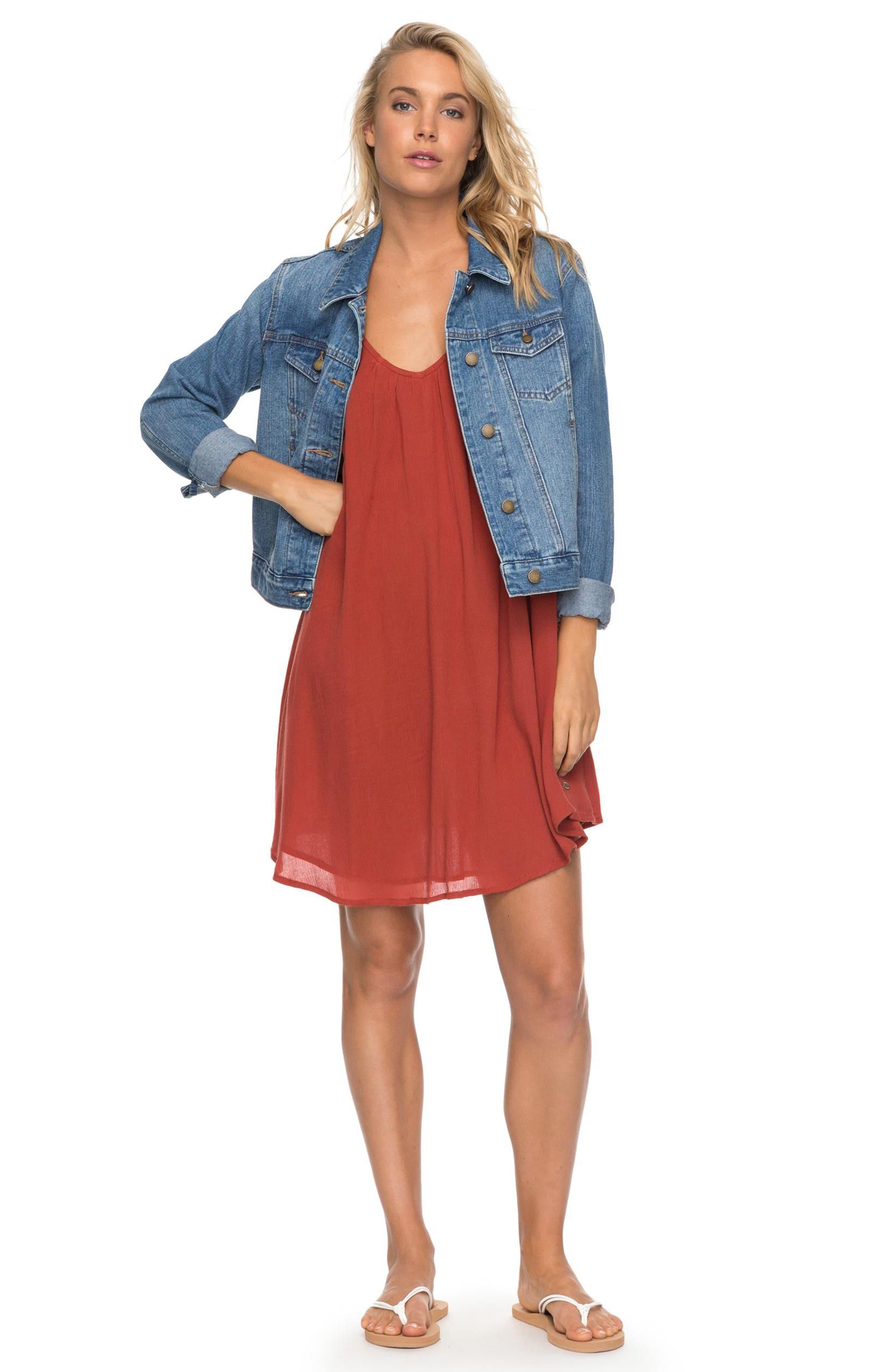 Alternate Image 5  - Roxy Great Intentions Trapeze Dress