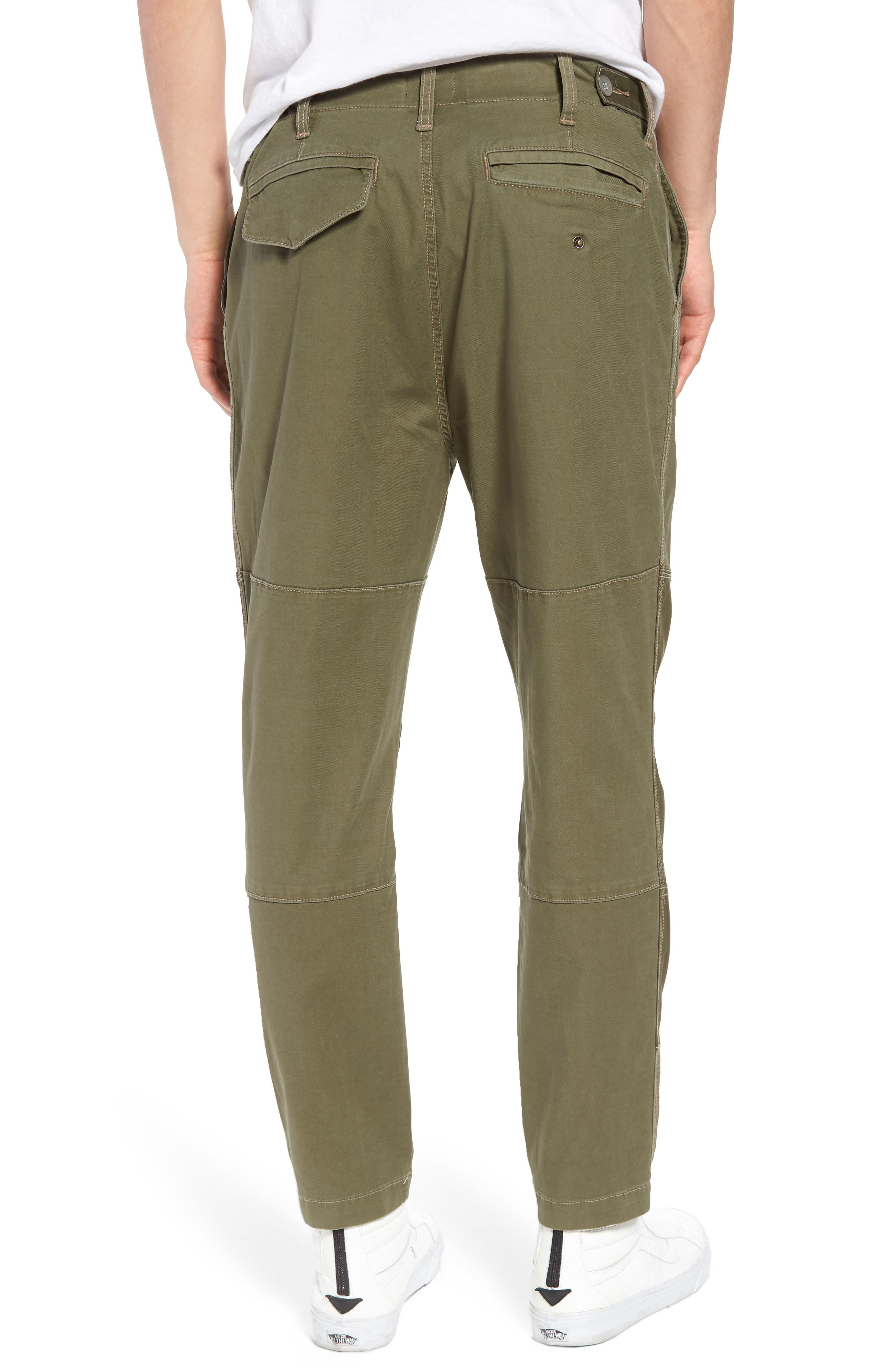Slouchy Slim Fit Cargo Pants,                             Alternate thumbnail 2, color,                             Army Green 1