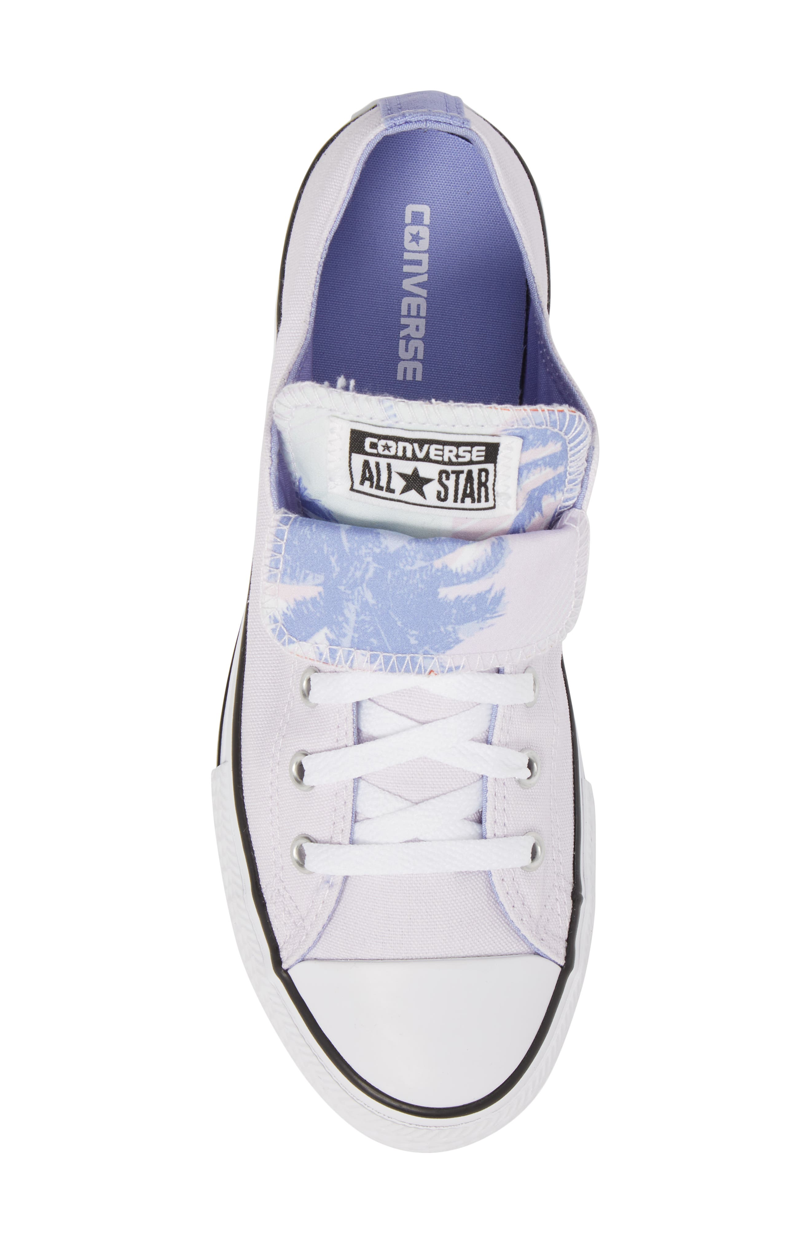 Chuck Taylor<sup>®</sup> All Star<sup>®</sup> Palm Tree Double Tongue Low Top Sneaker,                             Alternate thumbnail 5, color,                             Barely Grape