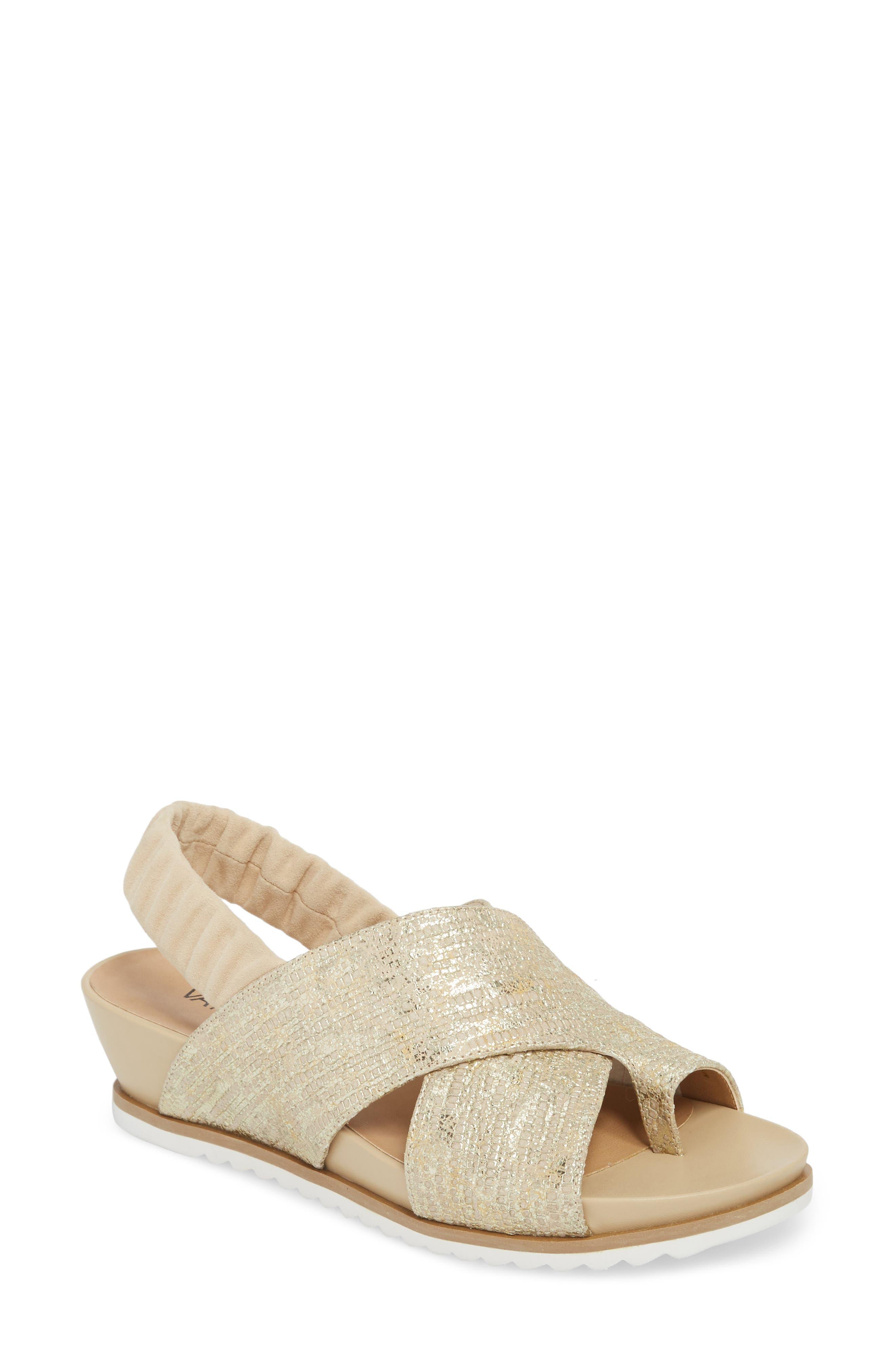 Hendra Slingback Sandal,                             Main thumbnail 1, color,                             Beige Printed Leather