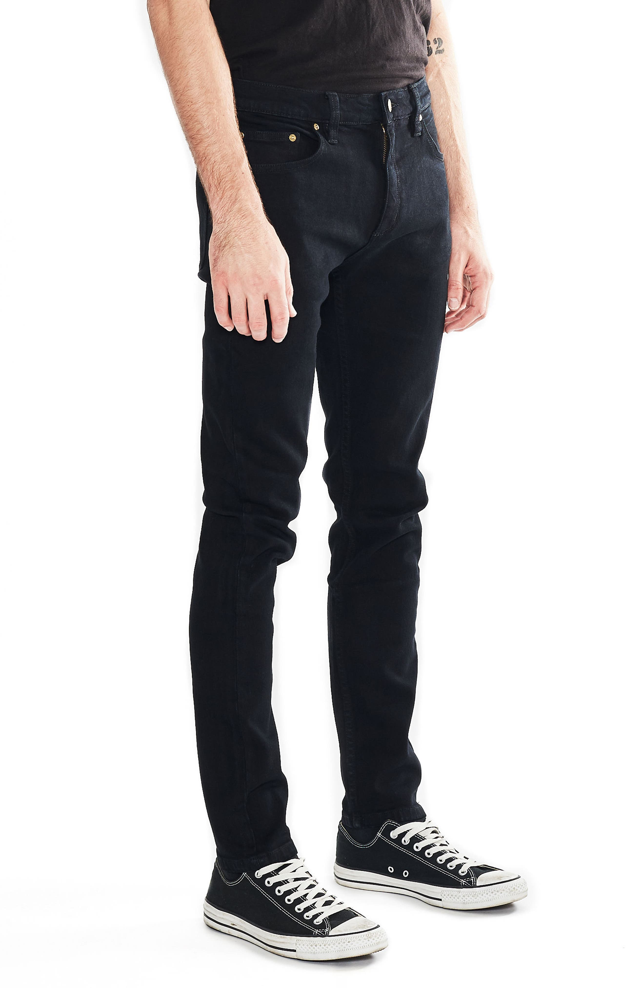 Thin Captain Slim Fit Jeans,                             Alternate thumbnail 3, color,                             Bon Black