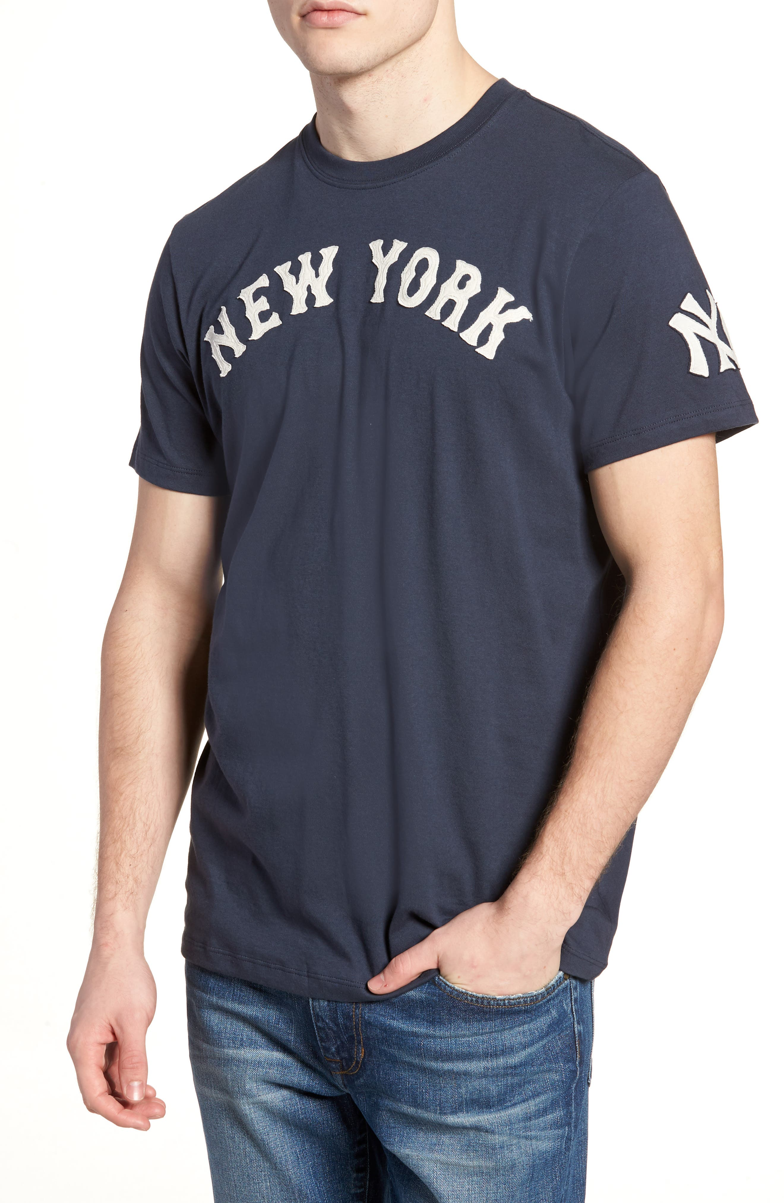 MLB Vintage Fieldhouse New York Yankees T-Shirt,                         Main,                         color, Midnight