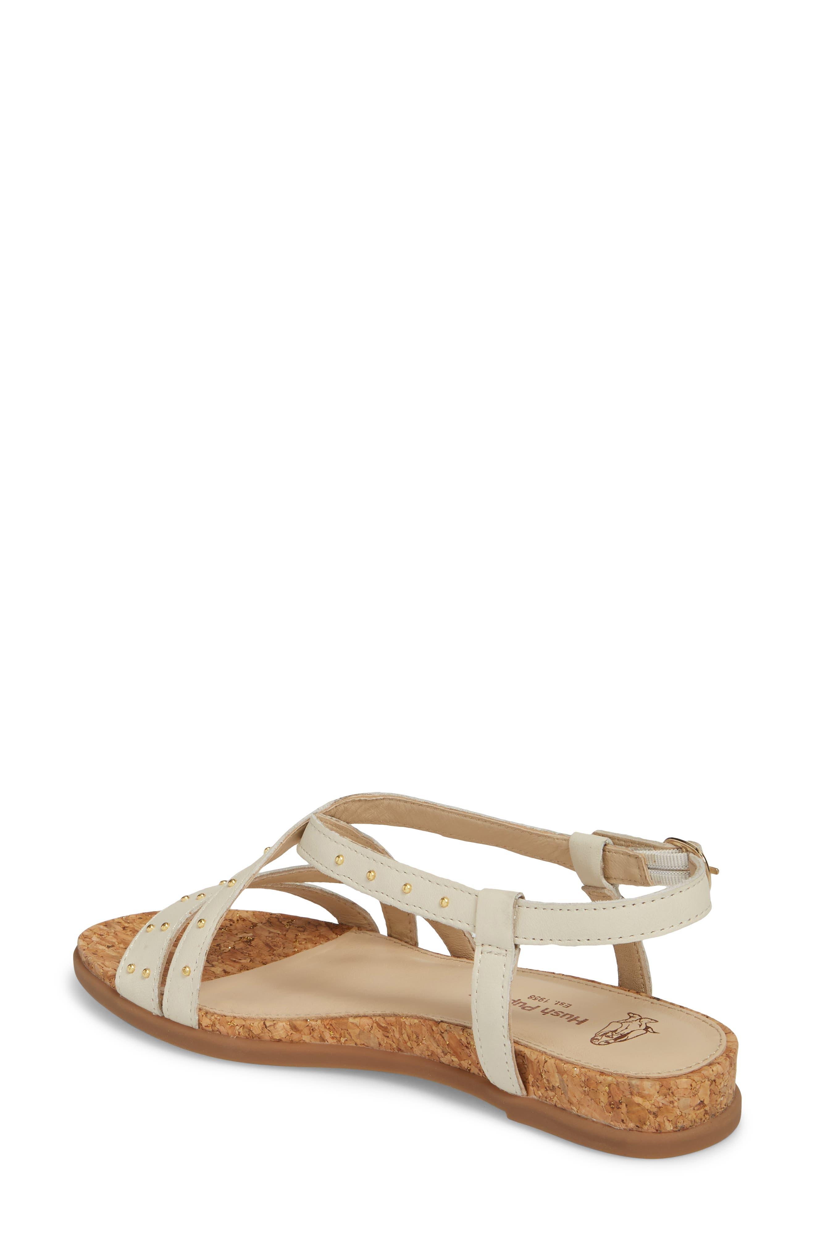 Dalmatian Studded Sandal,                             Alternate thumbnail 2, color,                             Ivory Leather
