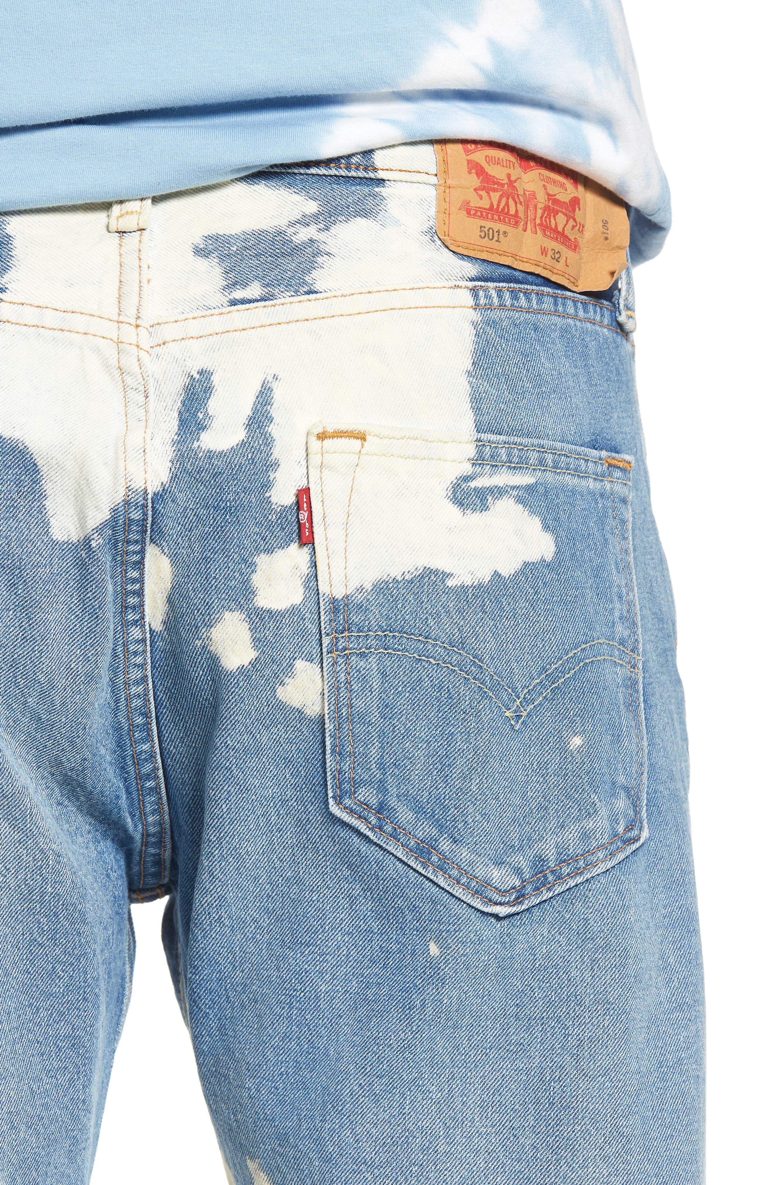 501<sup>®</sup> Original Straight Leg Cutoff Jeans,                             Alternate thumbnail 4, color,                             Baez
