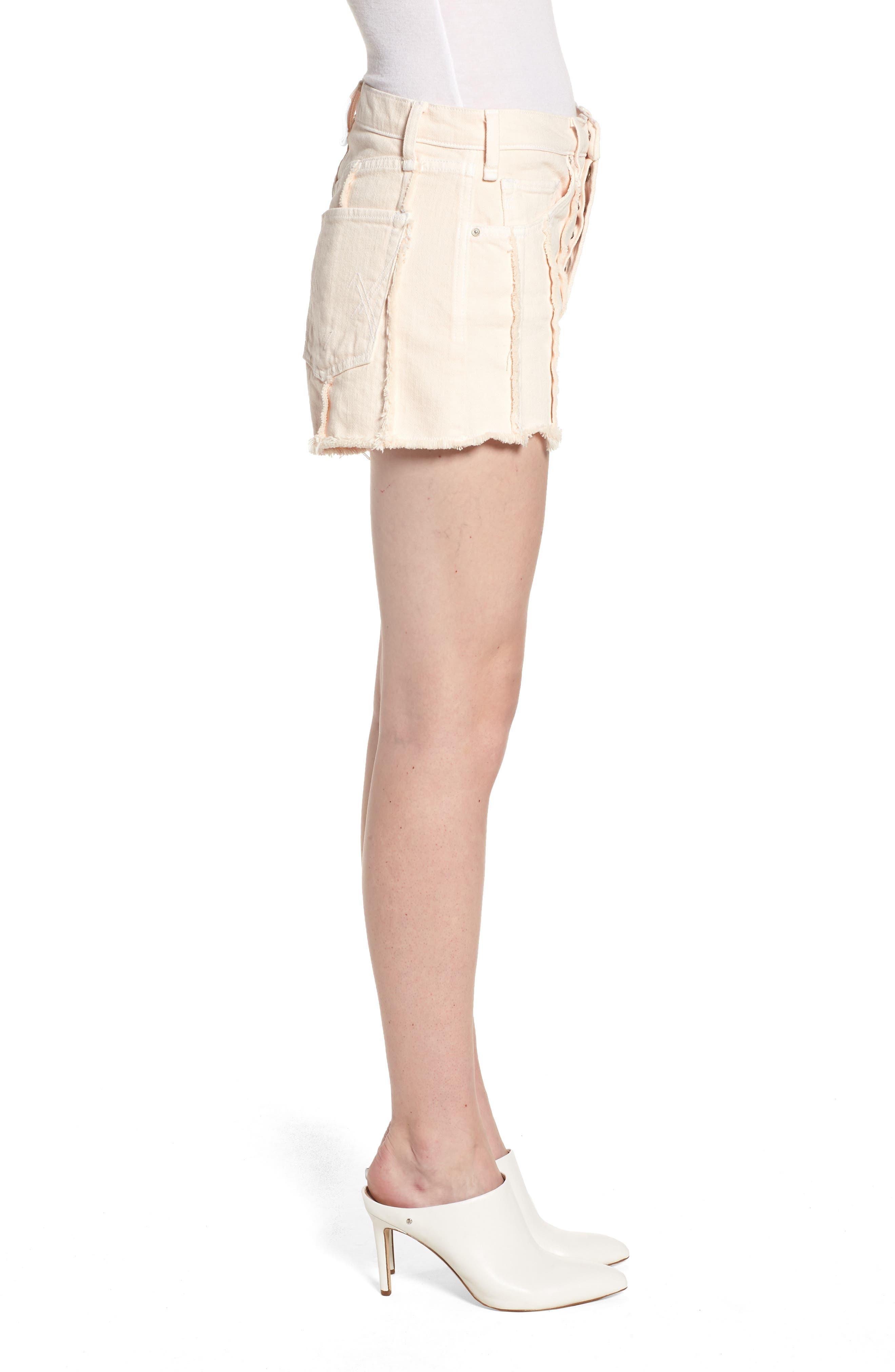 Georgia May High Waist Shorts,                             Alternate thumbnail 3, color,                             Baby Flamingo