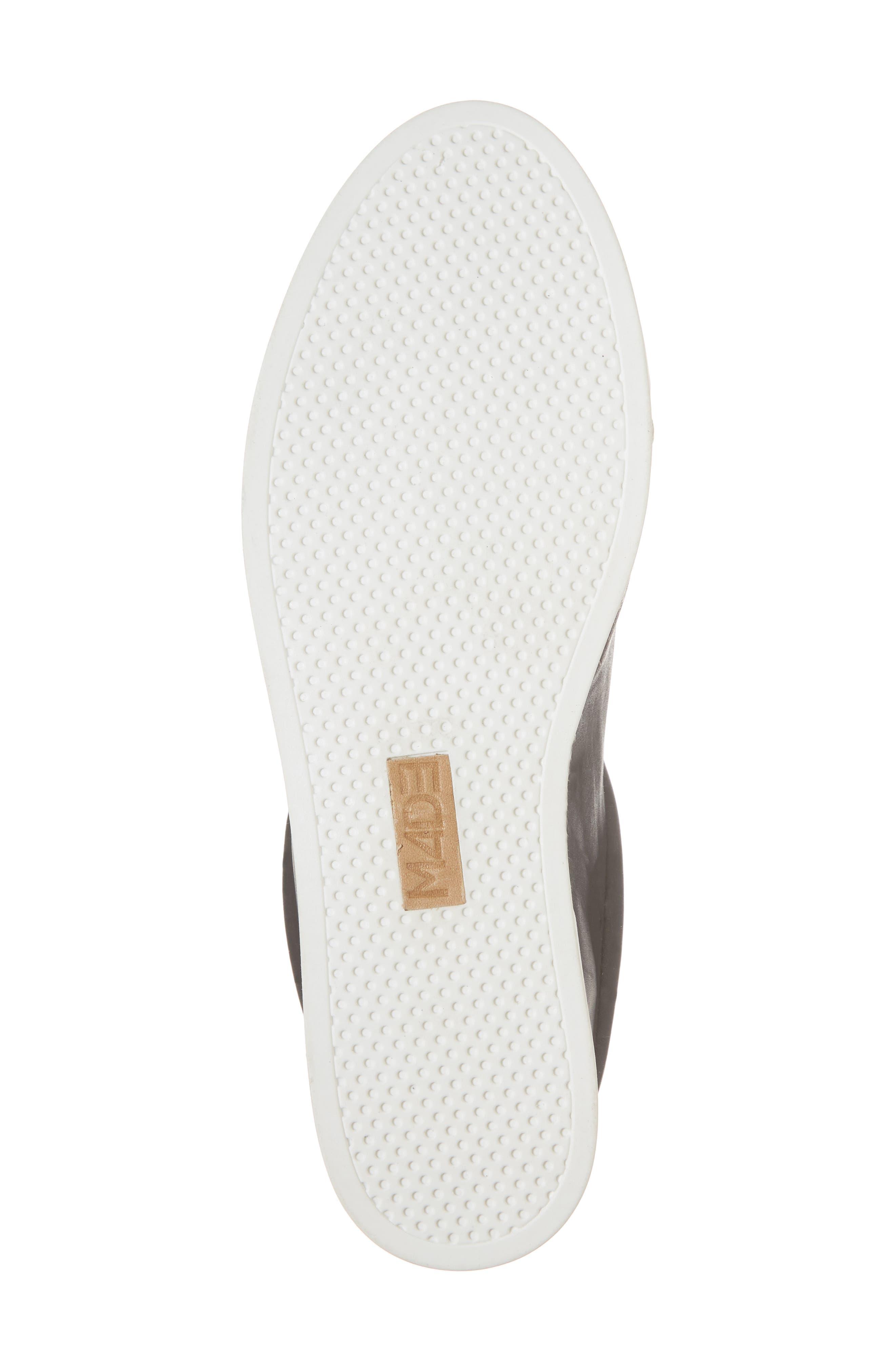 M4D3 Elizabeth Espadrille Slip-On Sneaker,                             Alternate thumbnail 6, color,                             Black Leather
