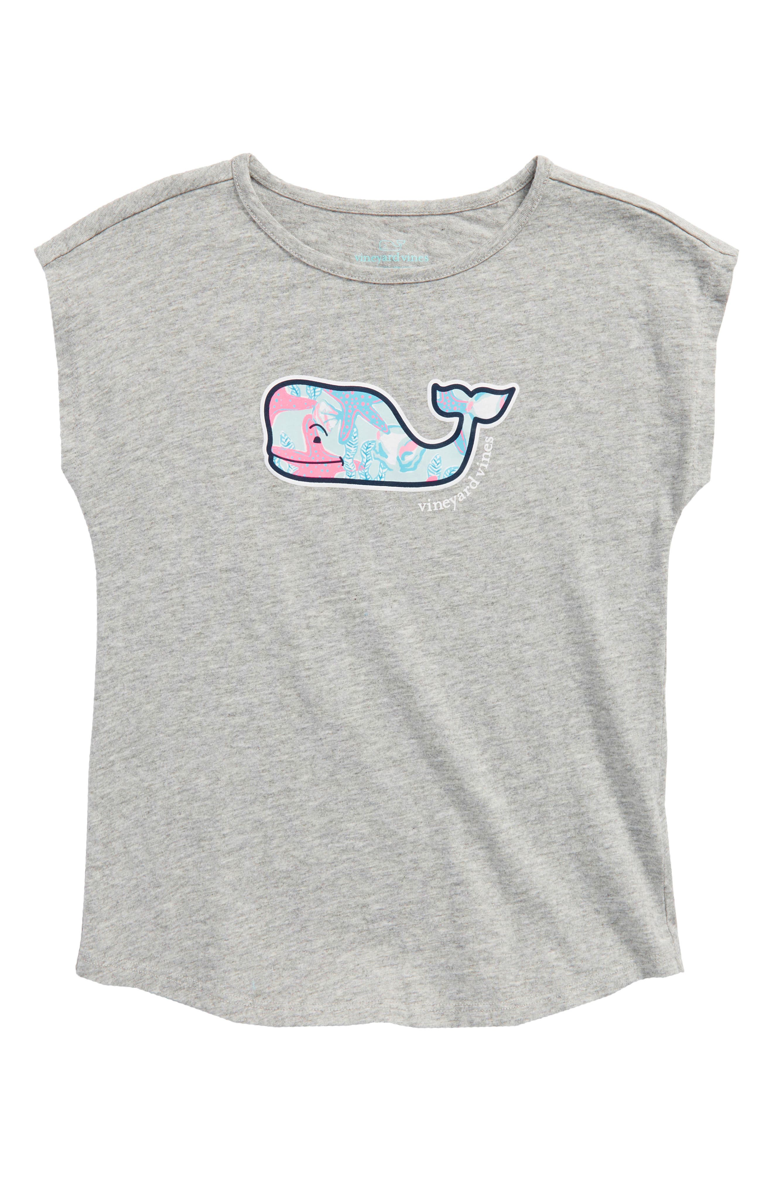Starfish Whale Graphic Tee,                         Main,                         color, Gray Heather