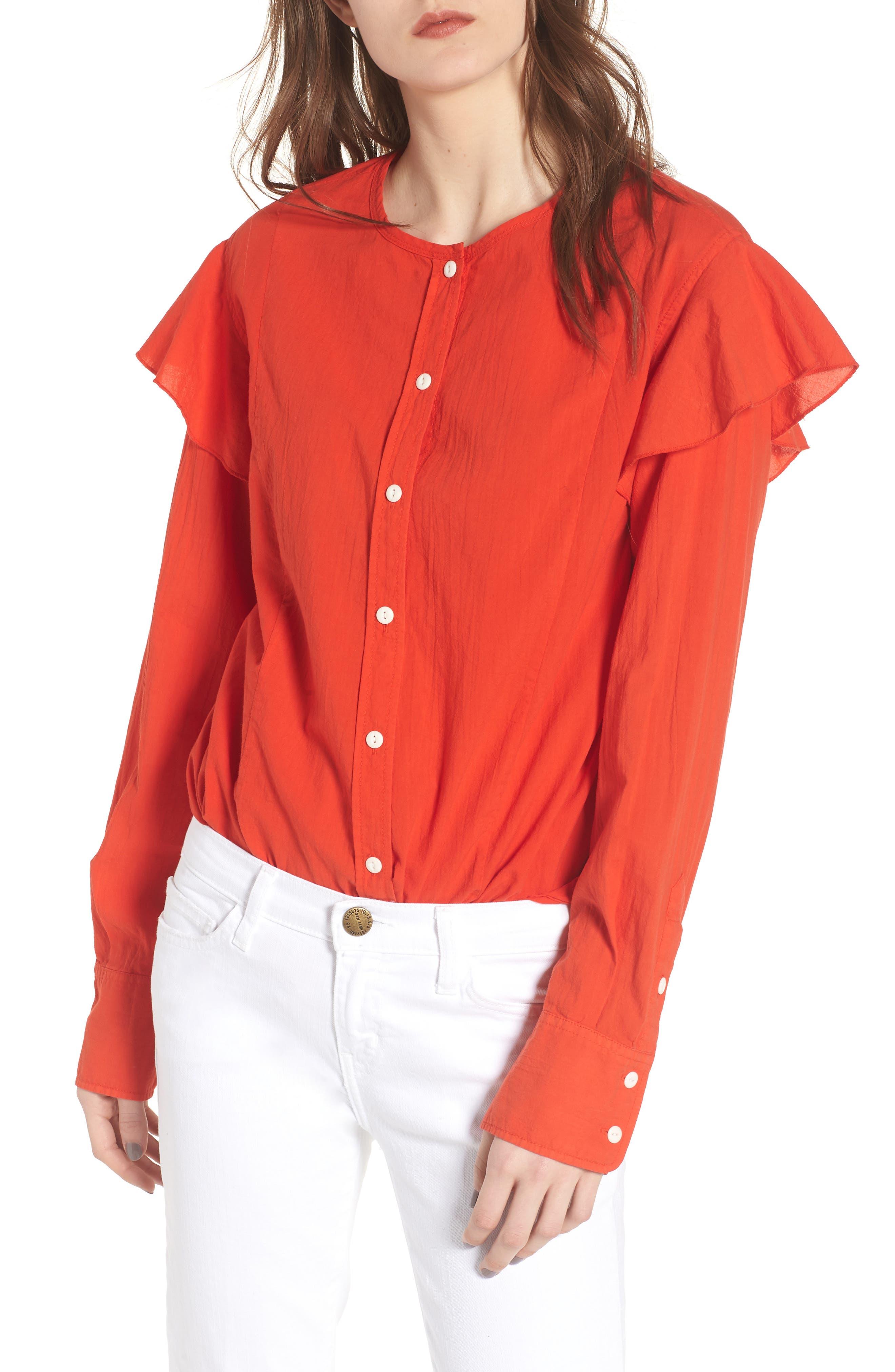 The Asley Shirt,                         Main,                         color, Poinciana