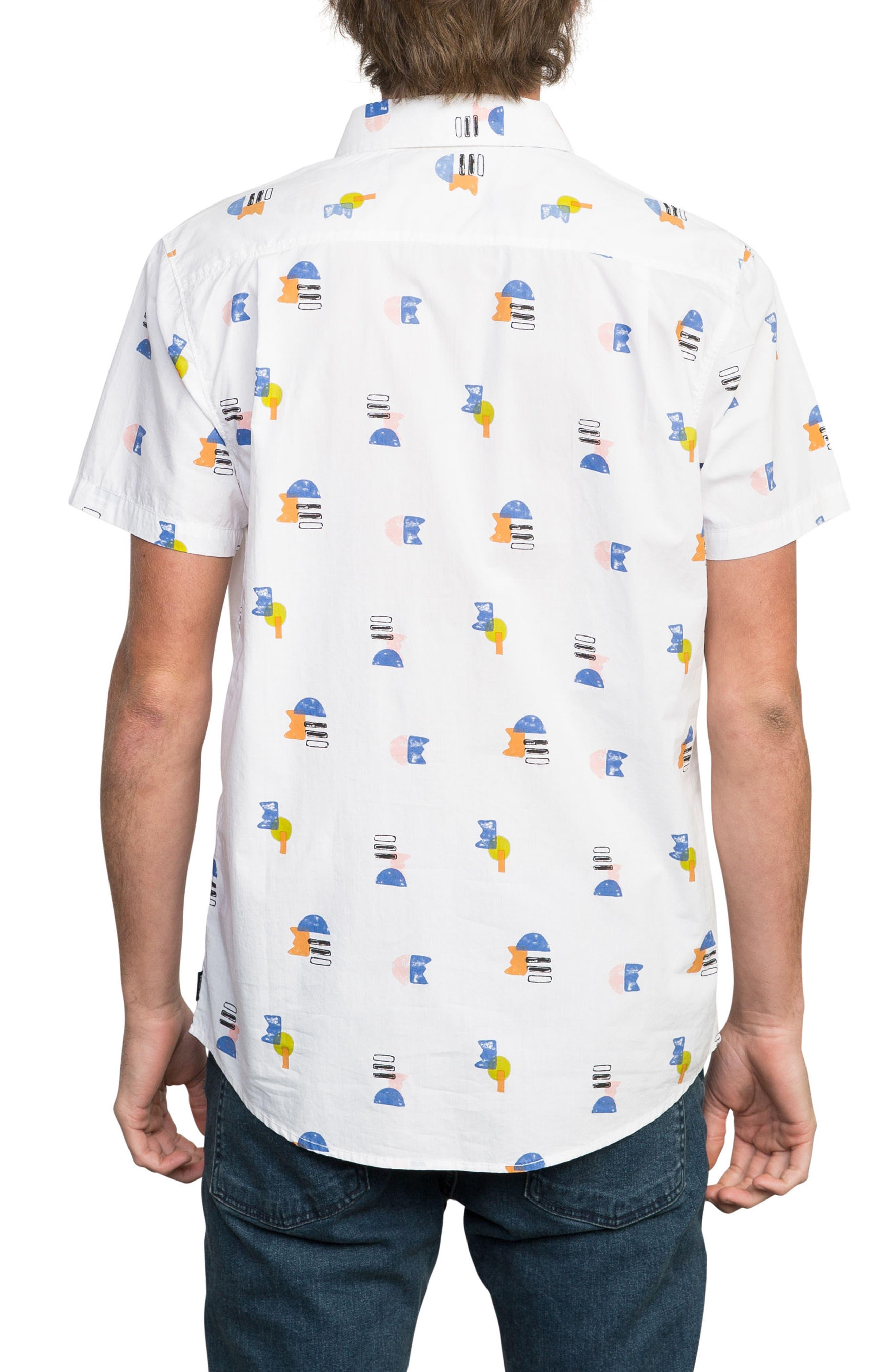 Margo Woven Shirt,                             Alternate thumbnail 2, color,                             White