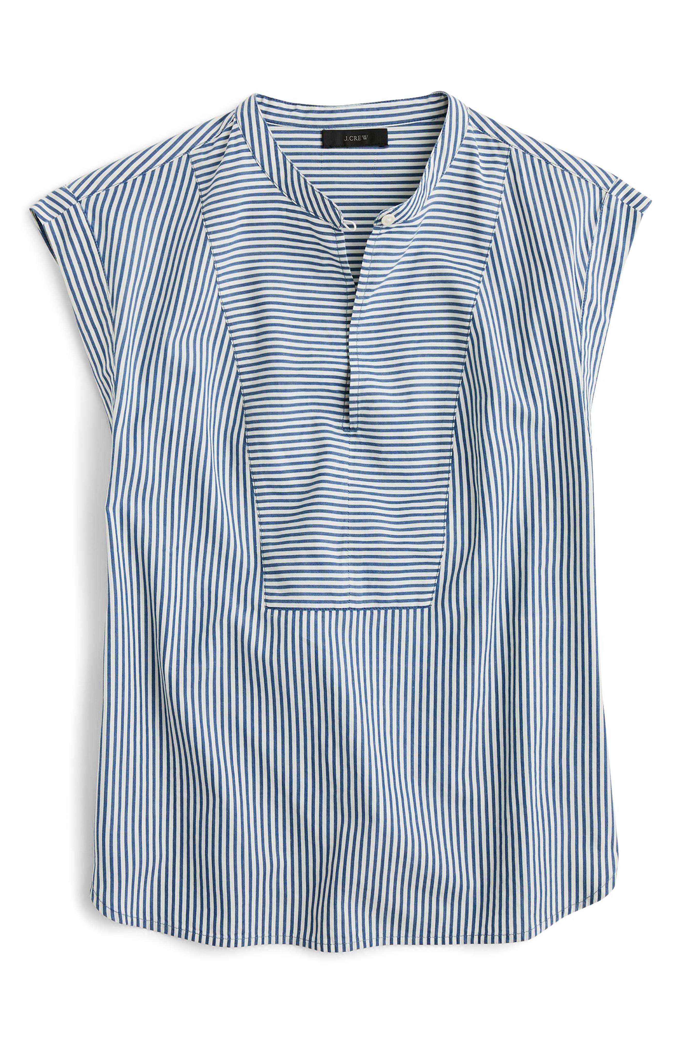 Cap Sleeve Stripe Top,                             Alternate thumbnail 3, color,                             Thalia Stripe