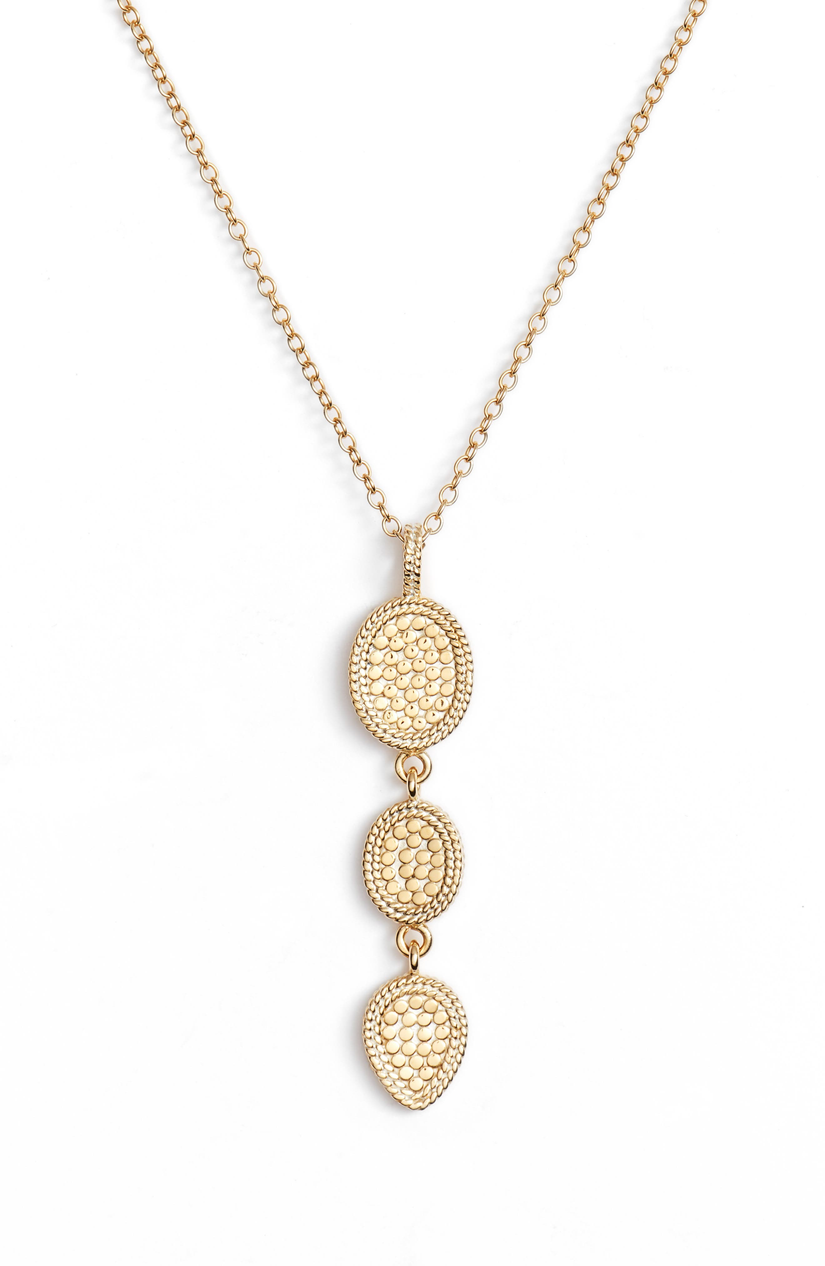 Main Image - Anna Beck Gold Triple Drop Pendant Necklace