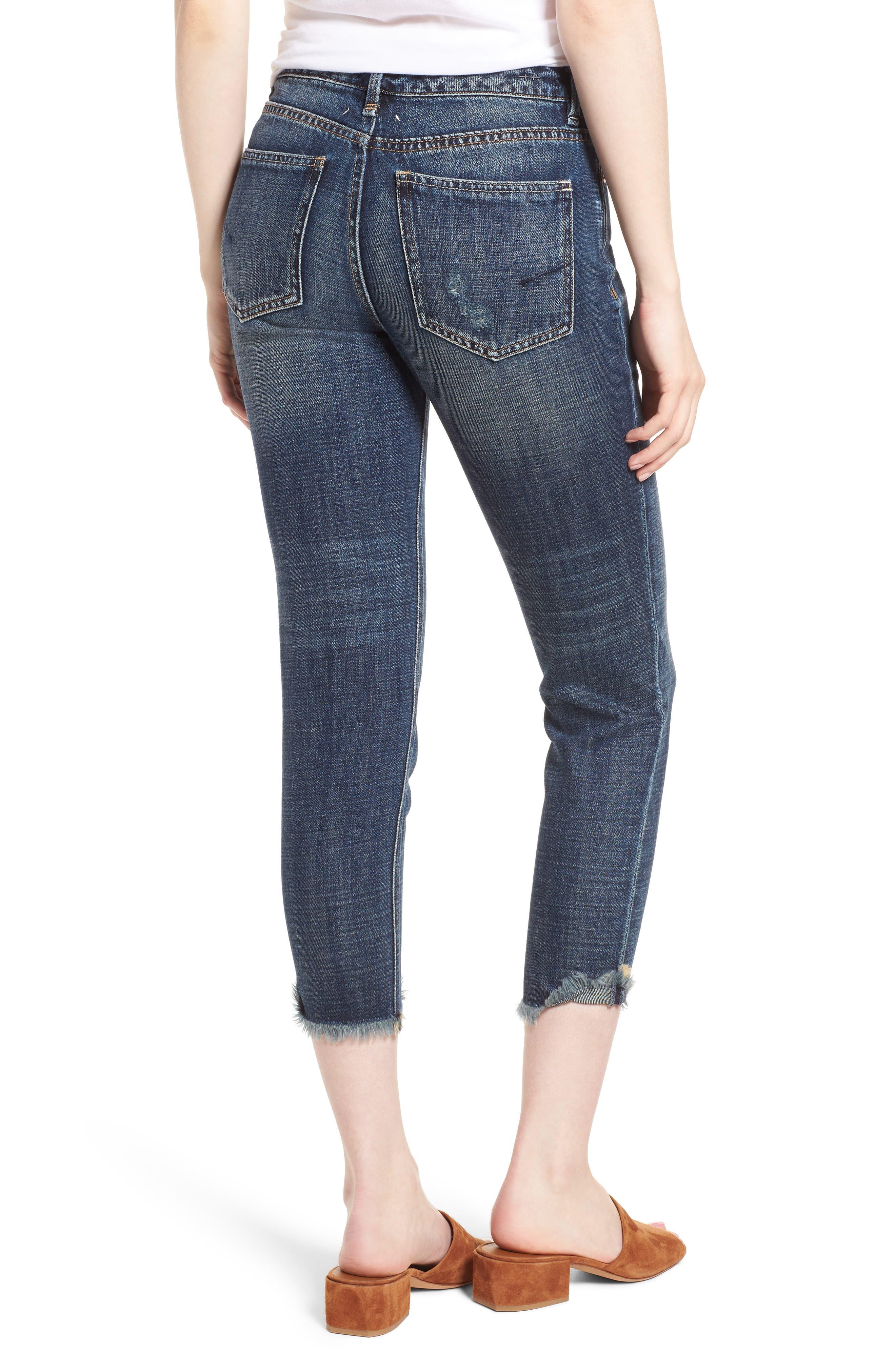 Vale Slant Fray Hem Jeans,                             Alternate thumbnail 2, color,                             Balsam