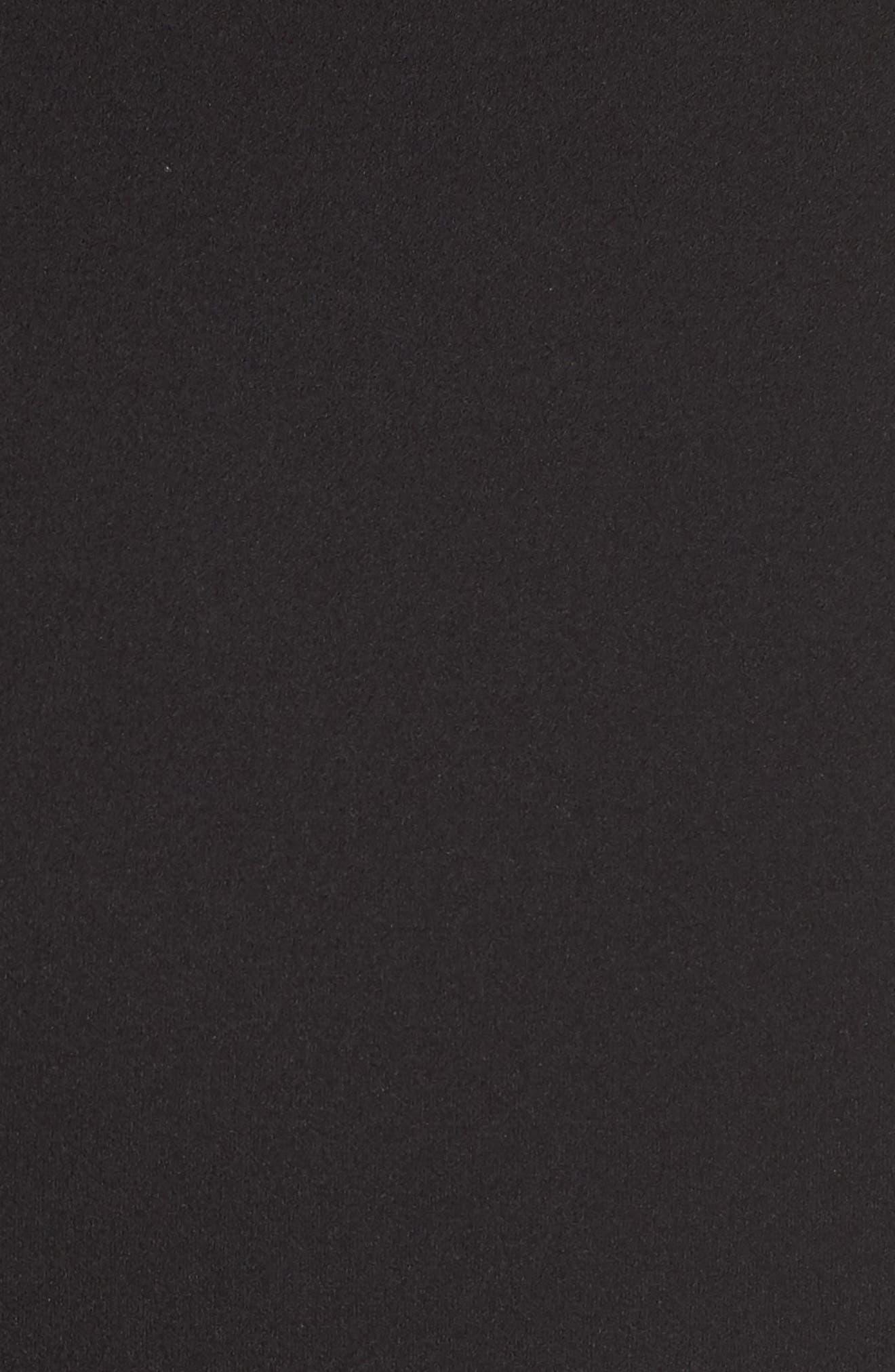 Illusion Neck Crepe Jumpsuit,                             Alternate thumbnail 5, color,                             Black