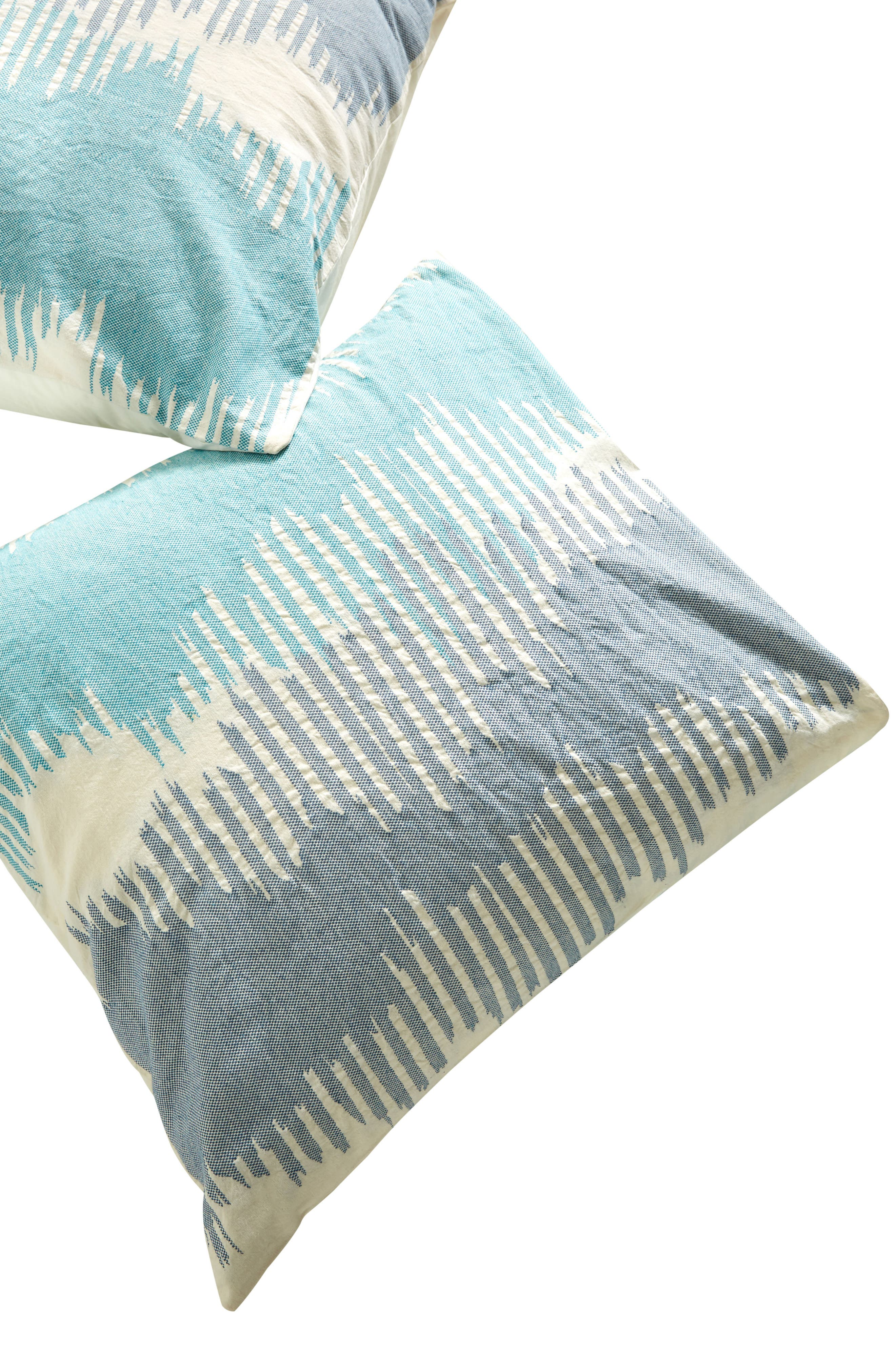 Woven Calera Euro Sham,                             Alternate thumbnail 2, color,                             Blue