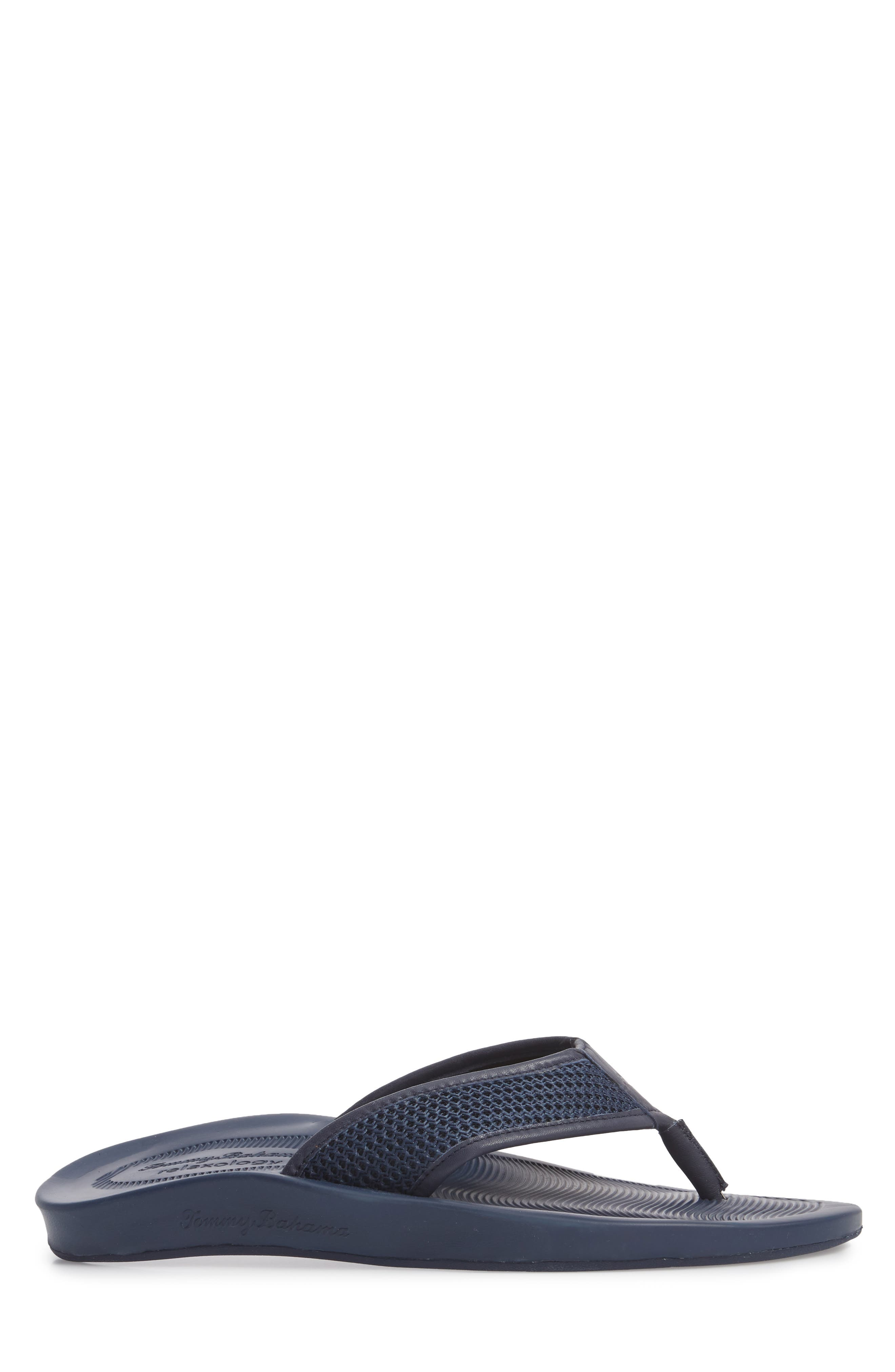 Shallows Edge Mesh Flip Flop,                             Alternate thumbnail 3, color,                             Navy Mesh/ Leather