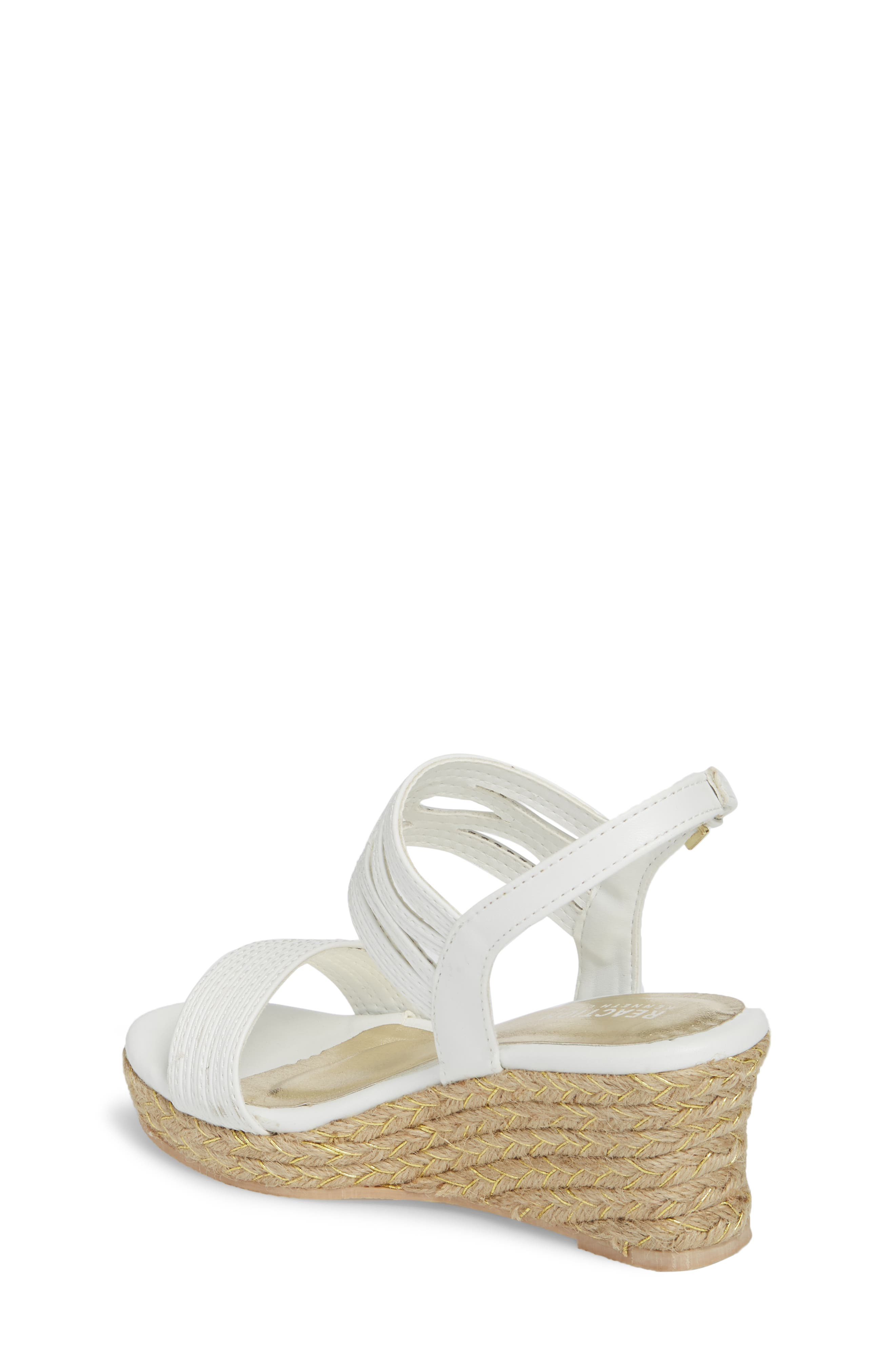 Reed Day Wedge Sandal,                             Alternate thumbnail 2, color,                             White