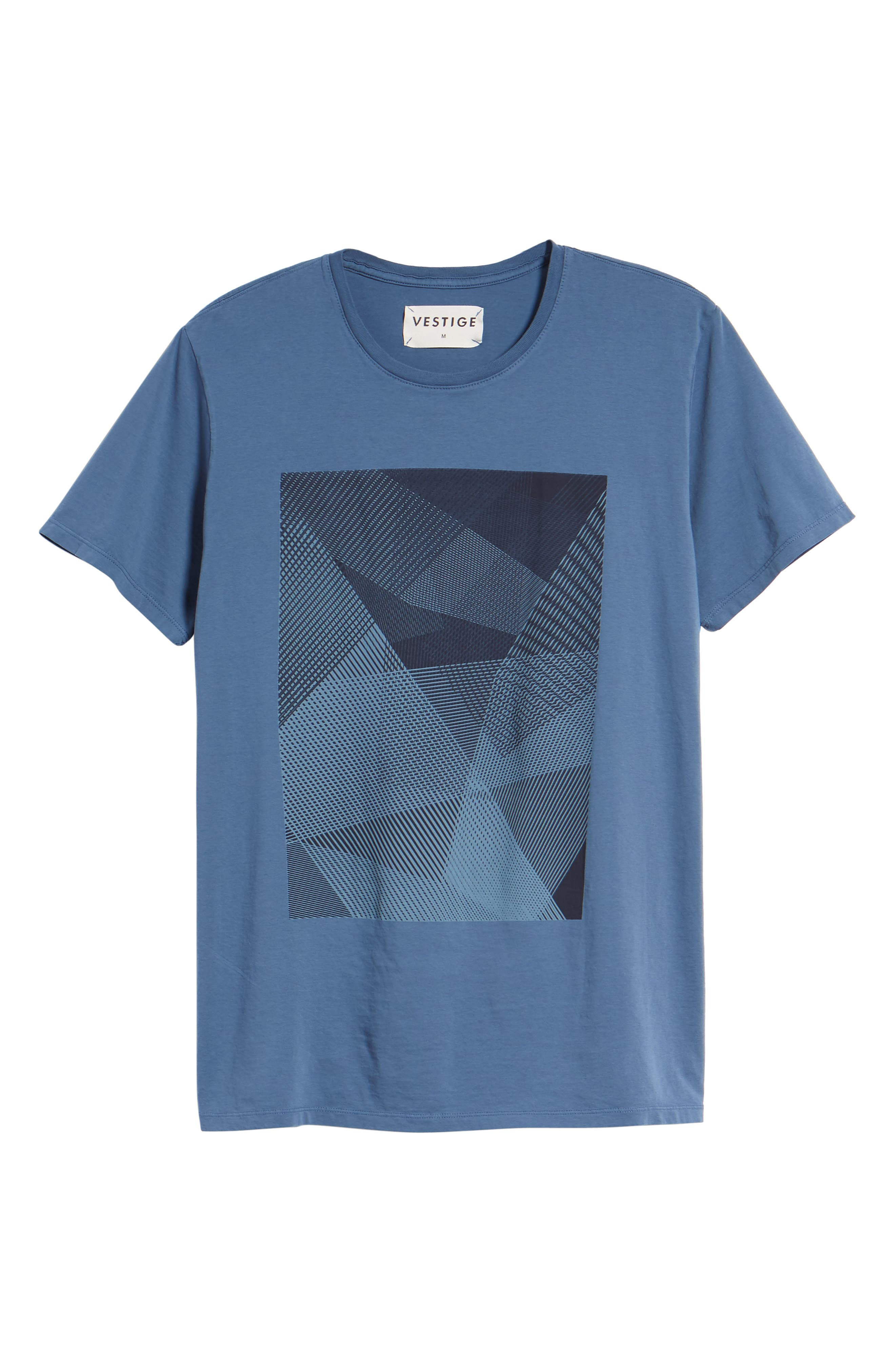 Line Matrix Graphic T-Shirt,                             Alternate thumbnail 5, color,                             Navy