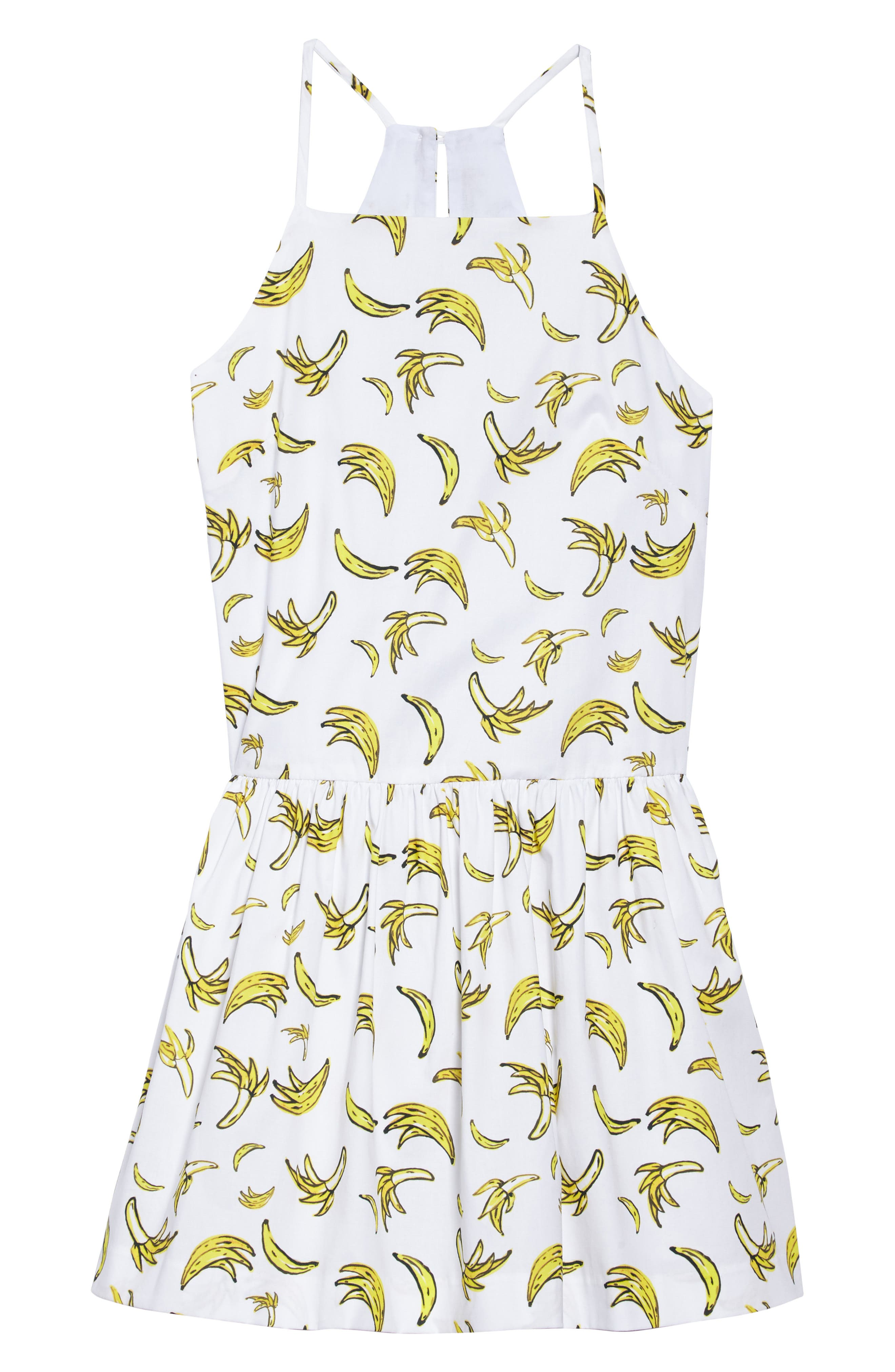 Banana Sundress,                             Main thumbnail 1, color,                             Yellow Multi