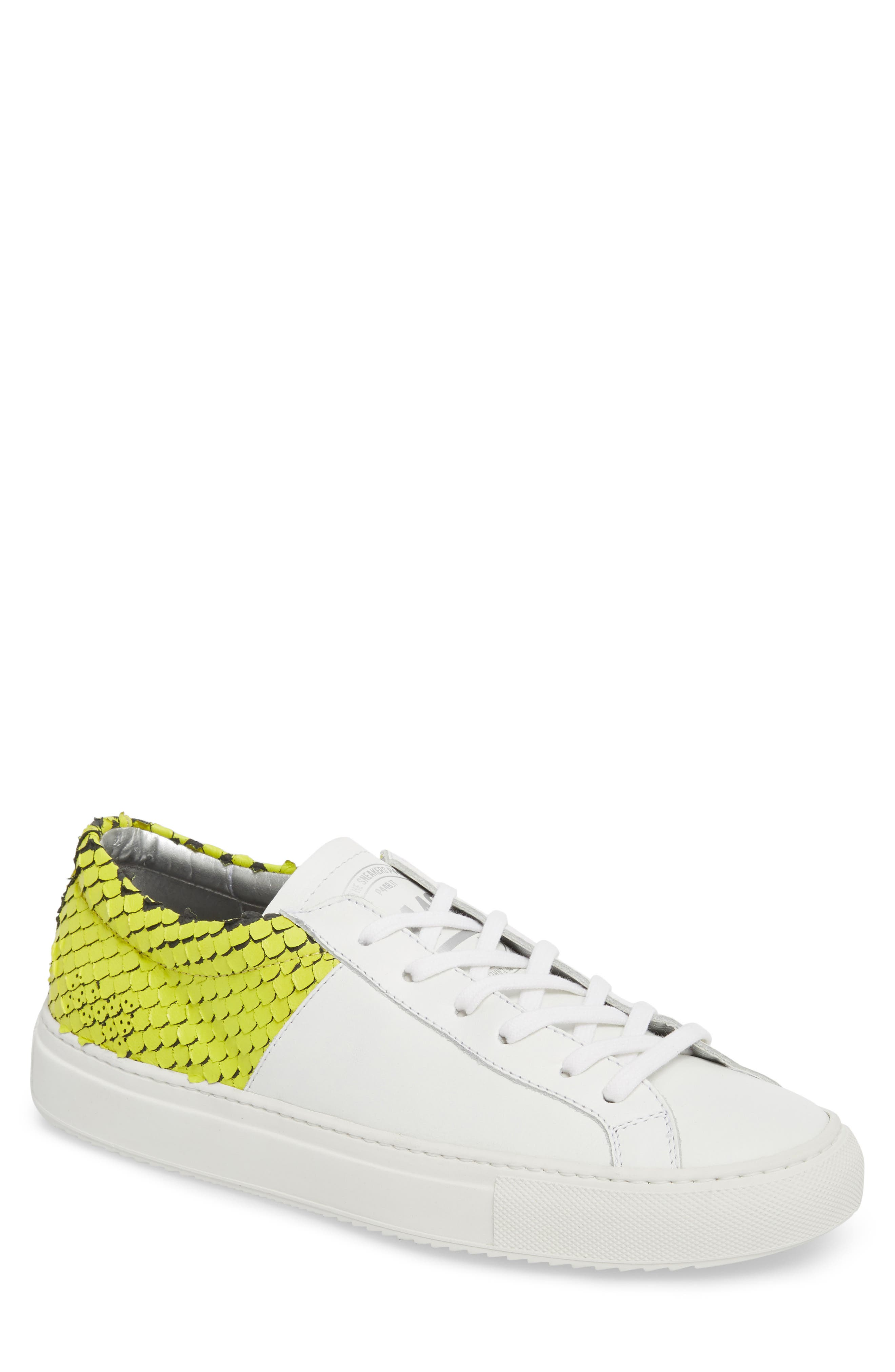 Onec Textured Low Top Sneaker,                             Main thumbnail 1, color,                             Python White