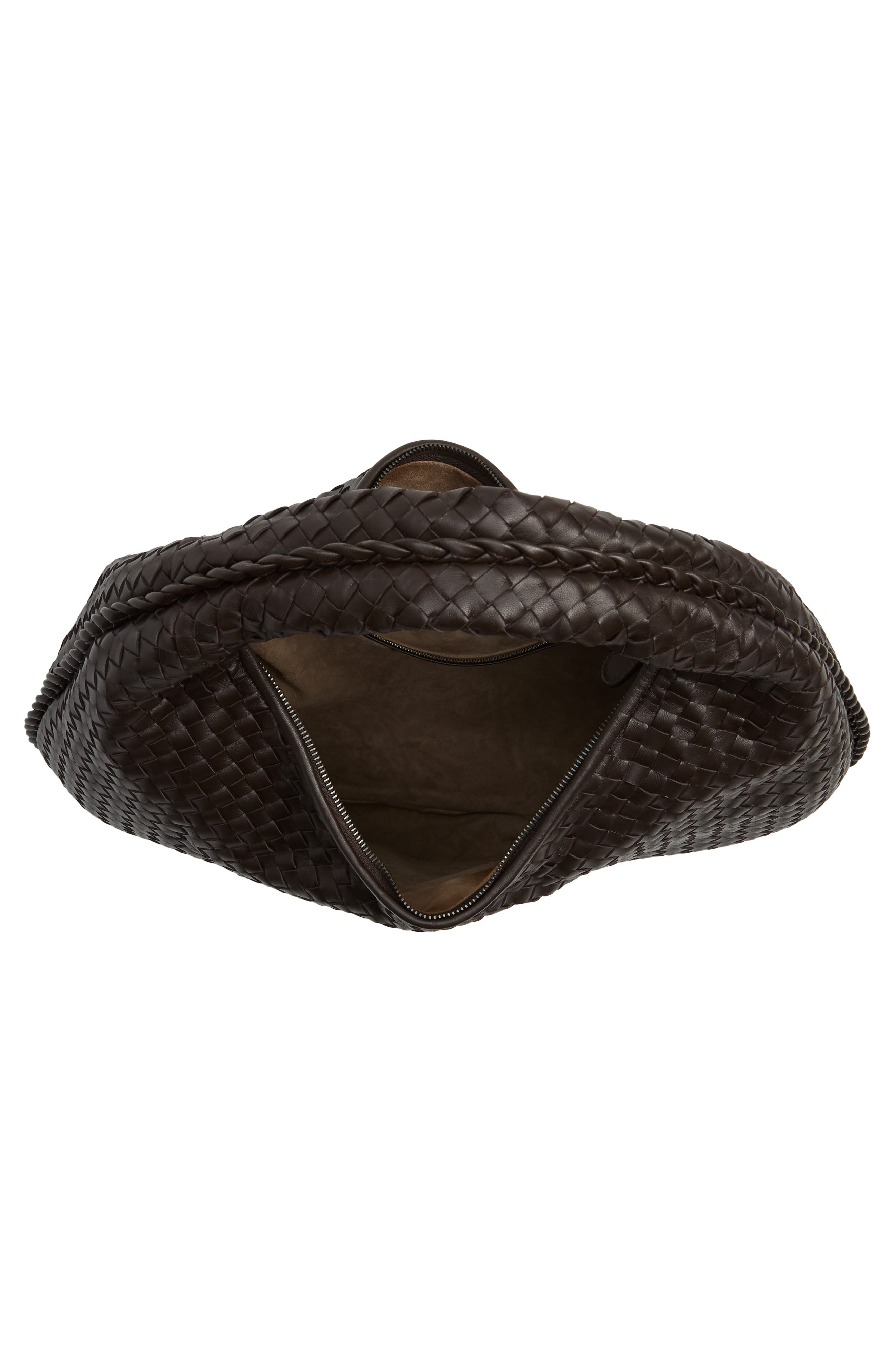 Large Veneta Leather Hobo,                             Alternate thumbnail 4, color,                             2074 Espresso