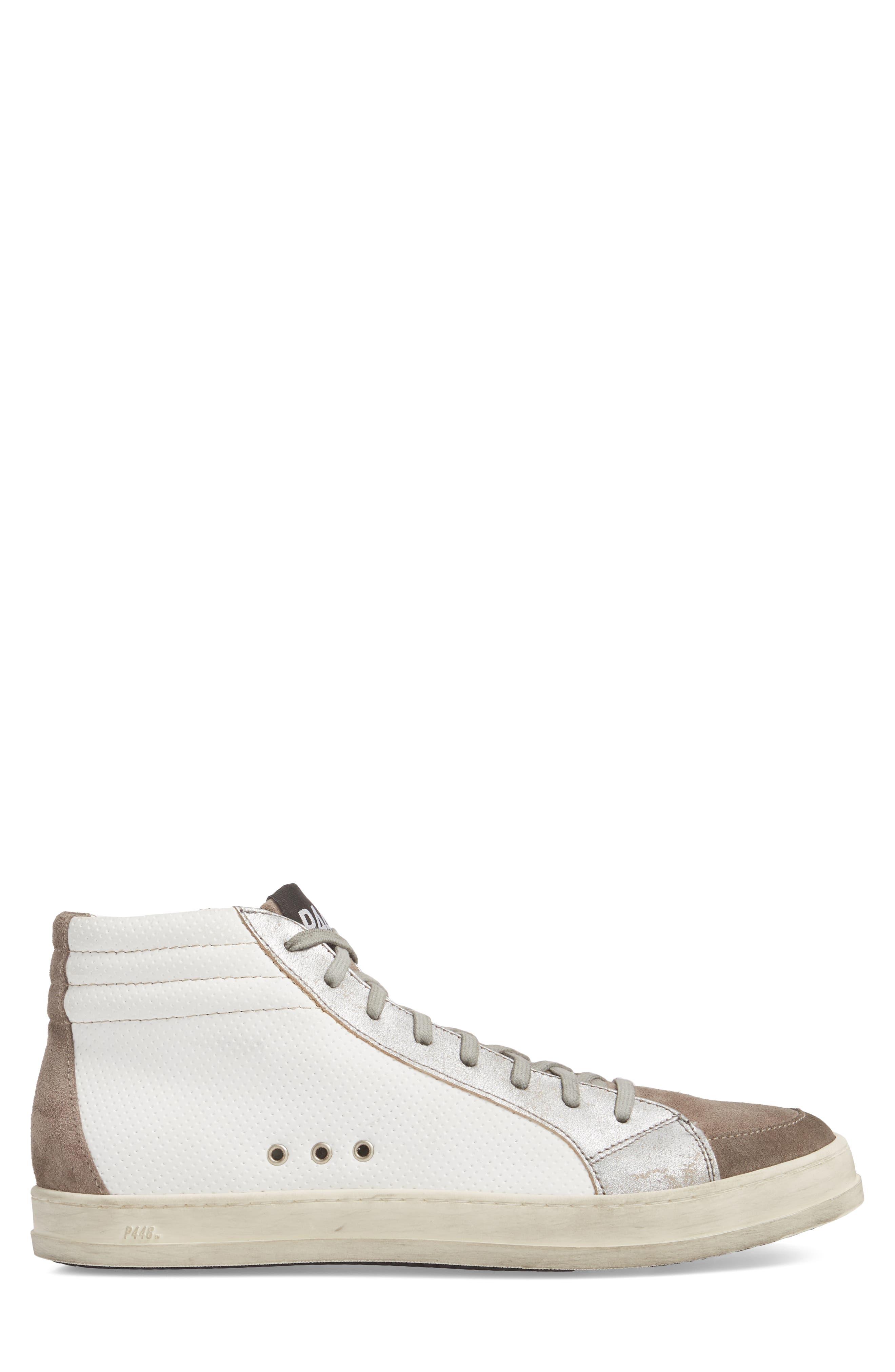 Skate High Top Sneaker,                             Alternate thumbnail 3, color,                             White