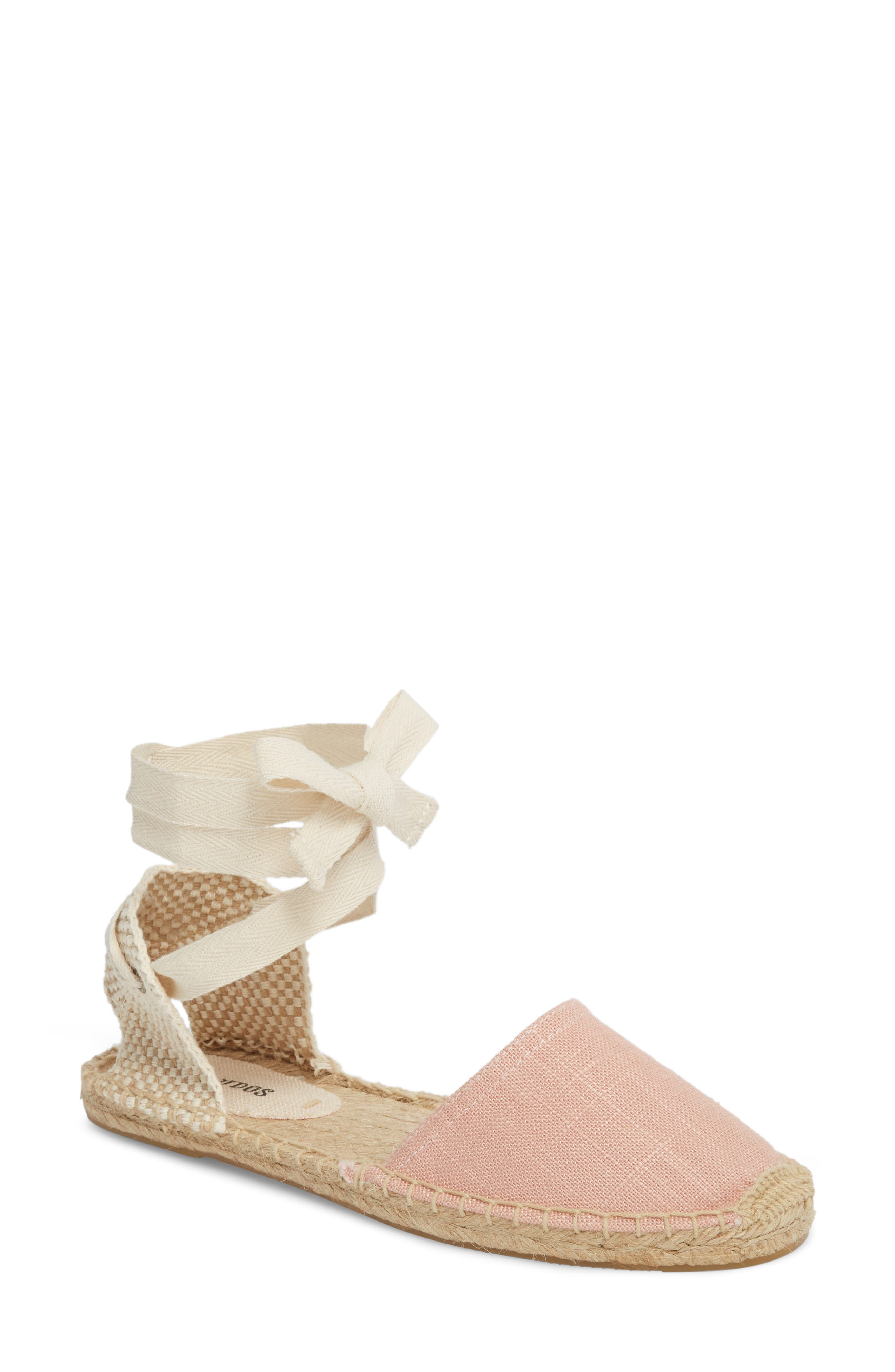 Classic Espadrille Sandal,                             Main thumbnail 1, color,                             Dusty Rose Fabric