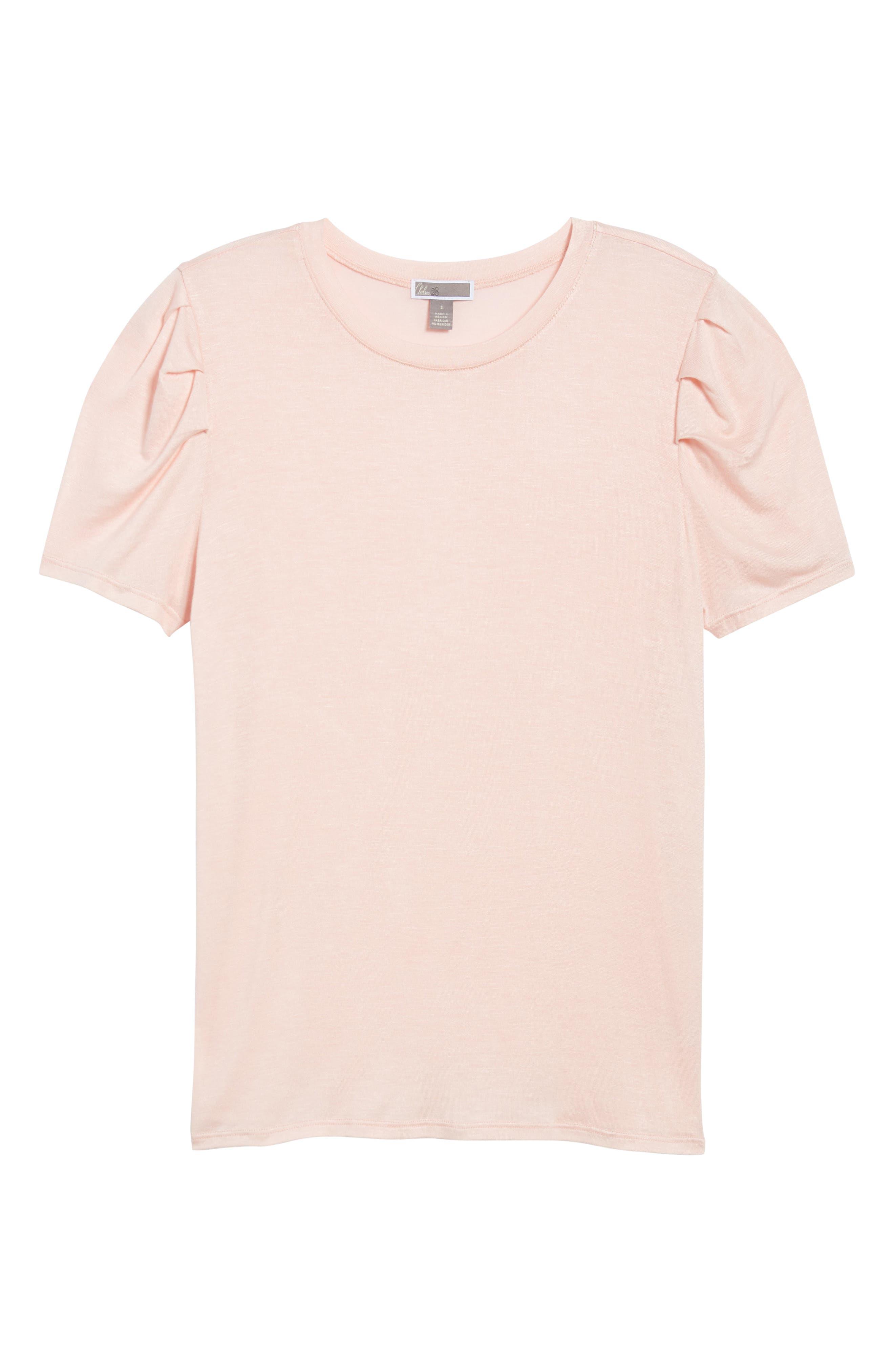 Shoulder Pleat Tee,                             Alternate thumbnail 6, color,                             Pink Hero