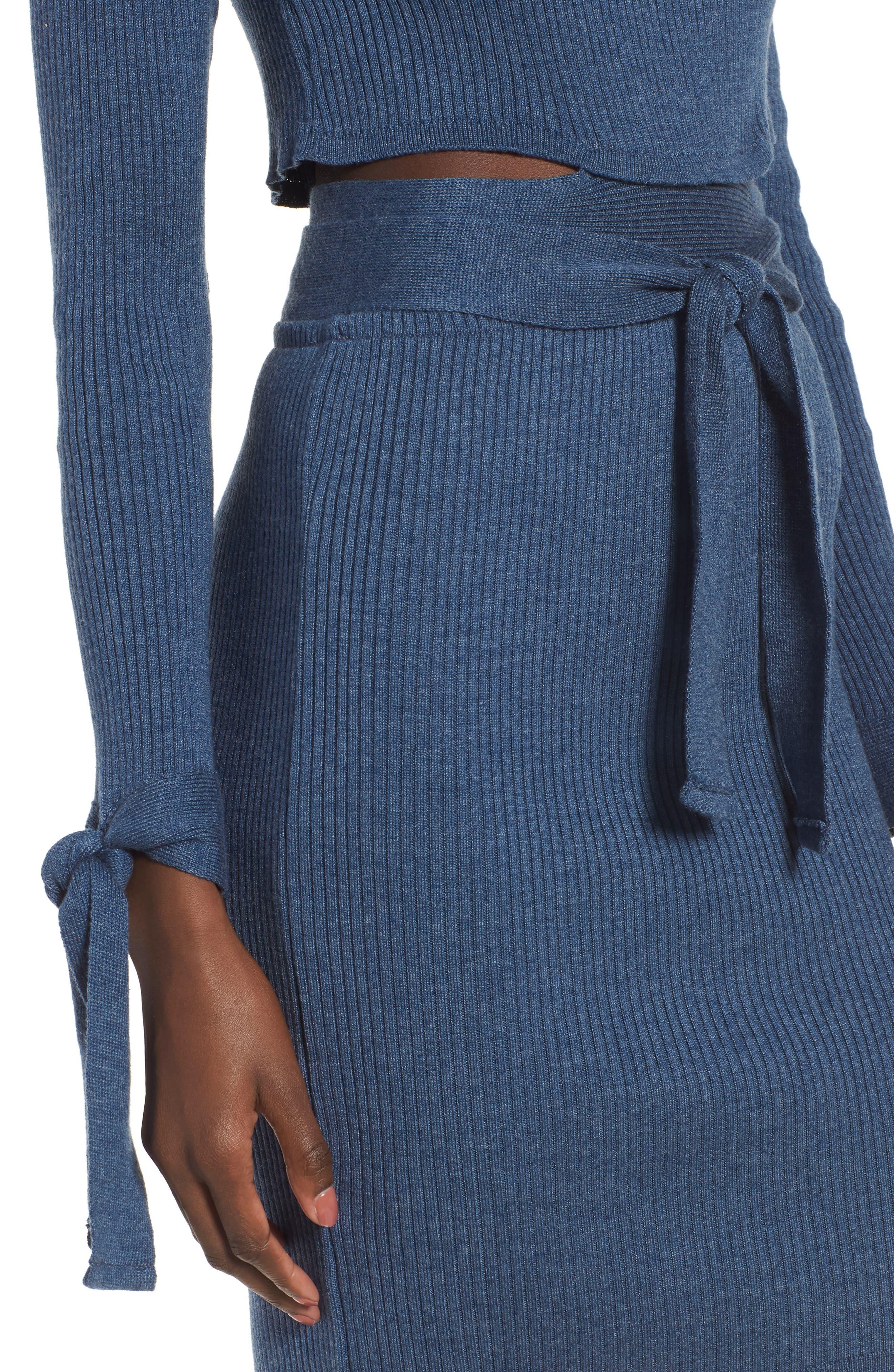 Cutout Body-Con Dress,                             Alternate thumbnail 6, color,                             Blue