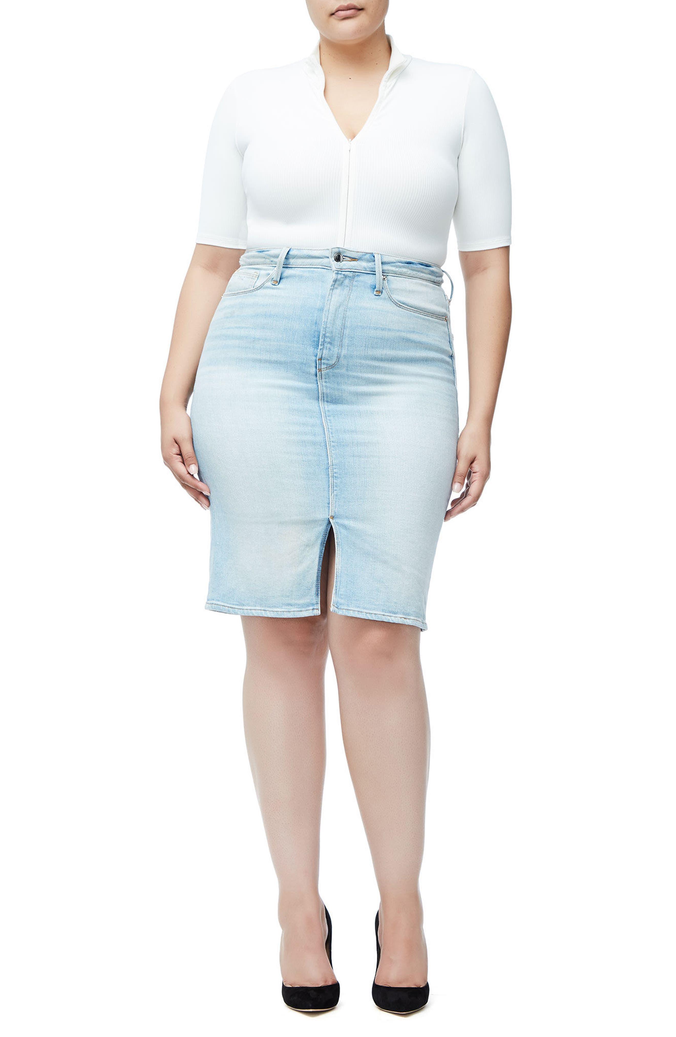 The Pencil Skirt,                             Alternate thumbnail 4, color,                             Blue146