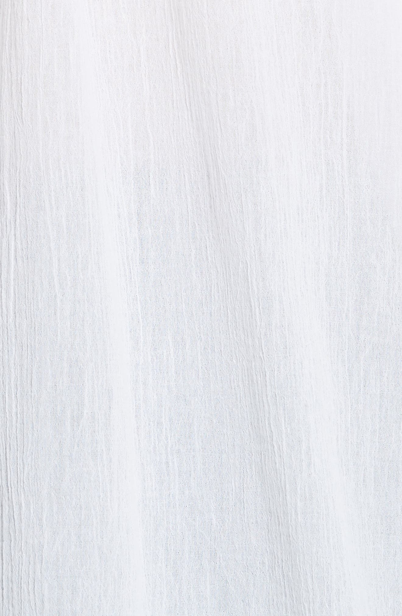 Cotton Poet Blouse,                             Alternate thumbnail 5, color,                             White