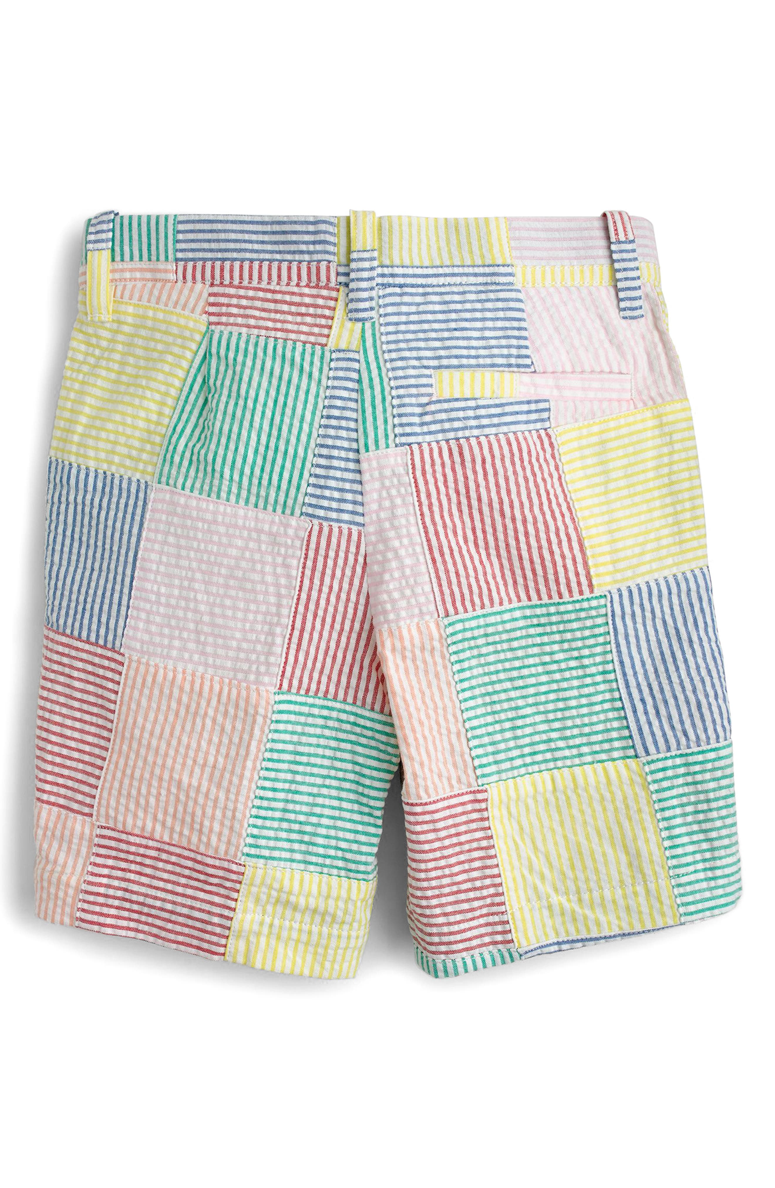 Crewcuts Stanton Patchwork Shorts,                             Alternate thumbnail 2, color,                             Ivory Multi