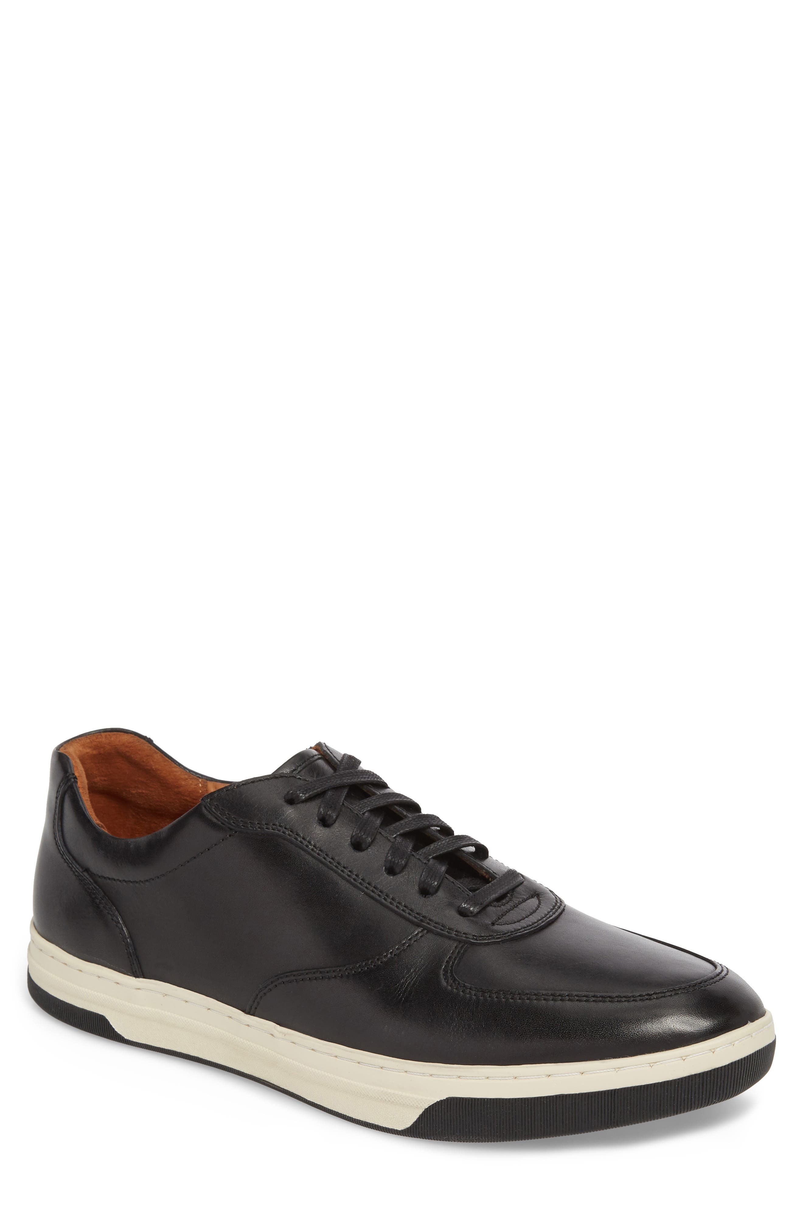 Fenton Low Top Sneaker,                         Main,                         color, Black Leather