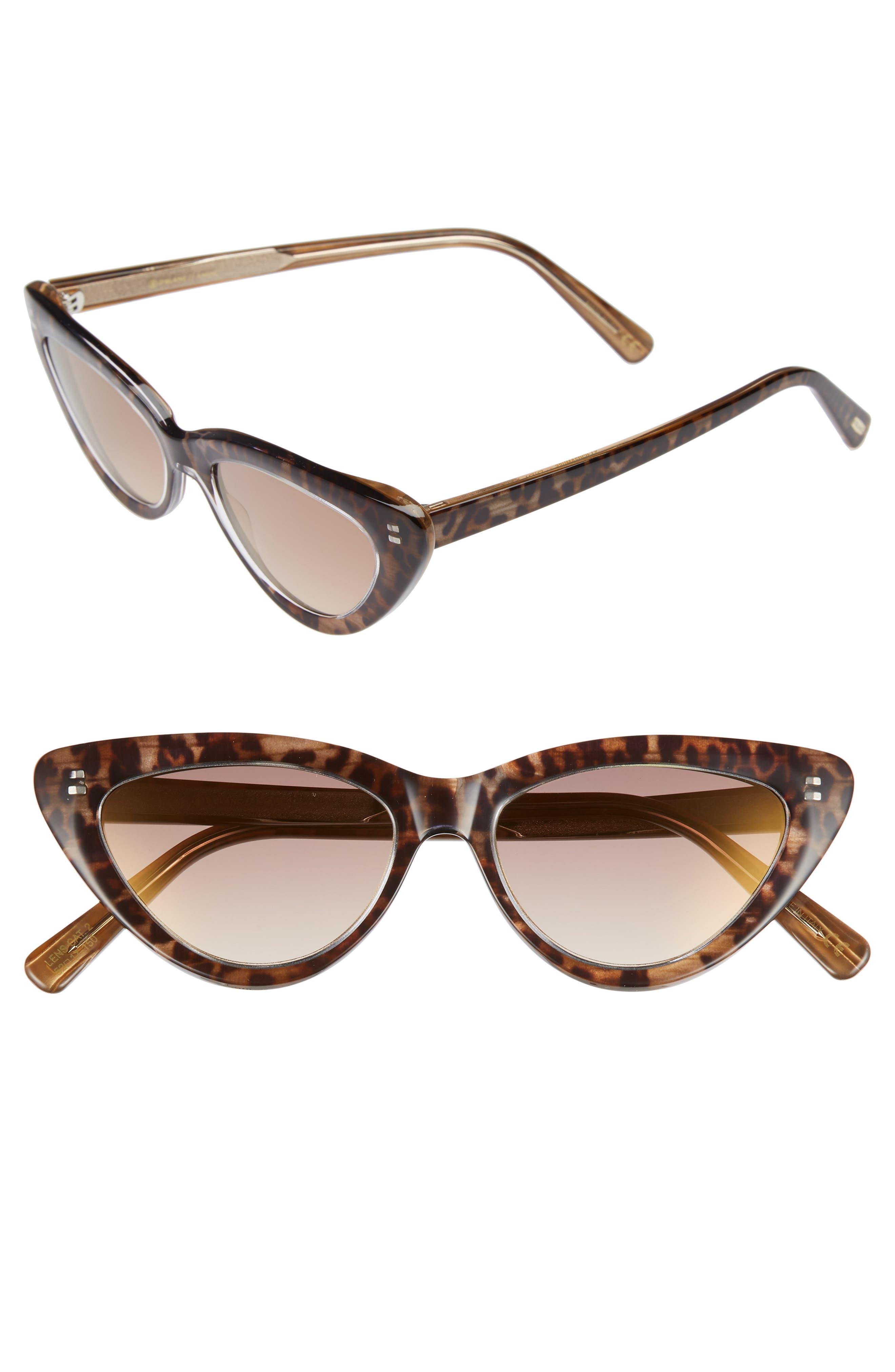 D'BLANC A-Muse 52mm Sunglasses,                         Main,                         color, Cheetah