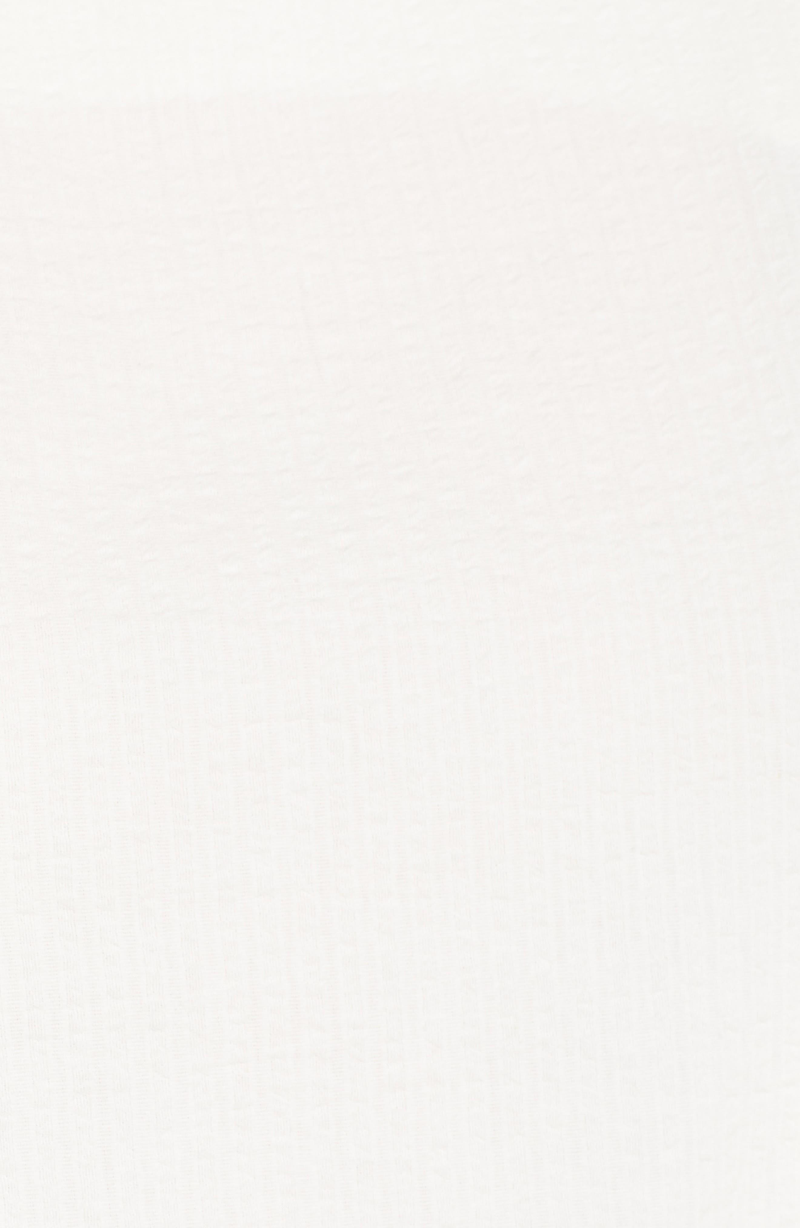 Seersucker Ruffle Top,                             Alternate thumbnail 6, color,                             Ivory Egret