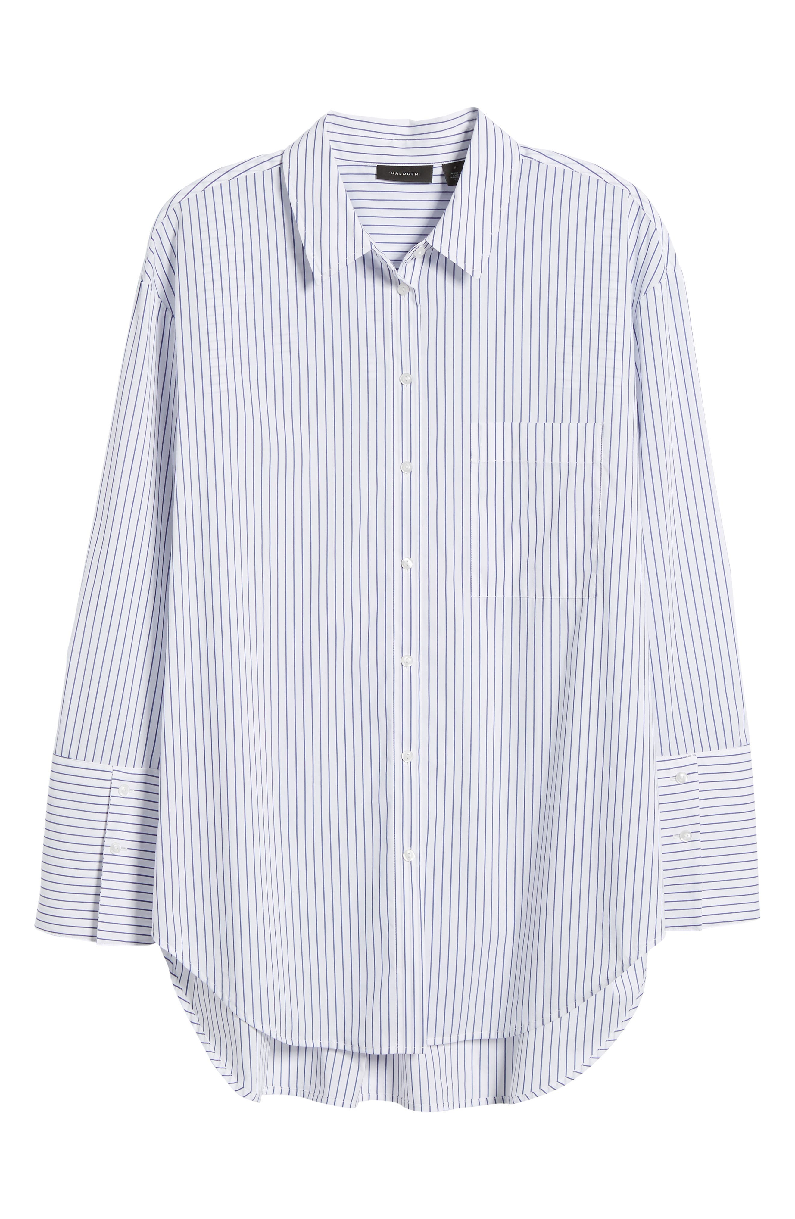 Alternate Image 6  - Halogen® Tie Front Poplin Shirt (Regular & Petite)