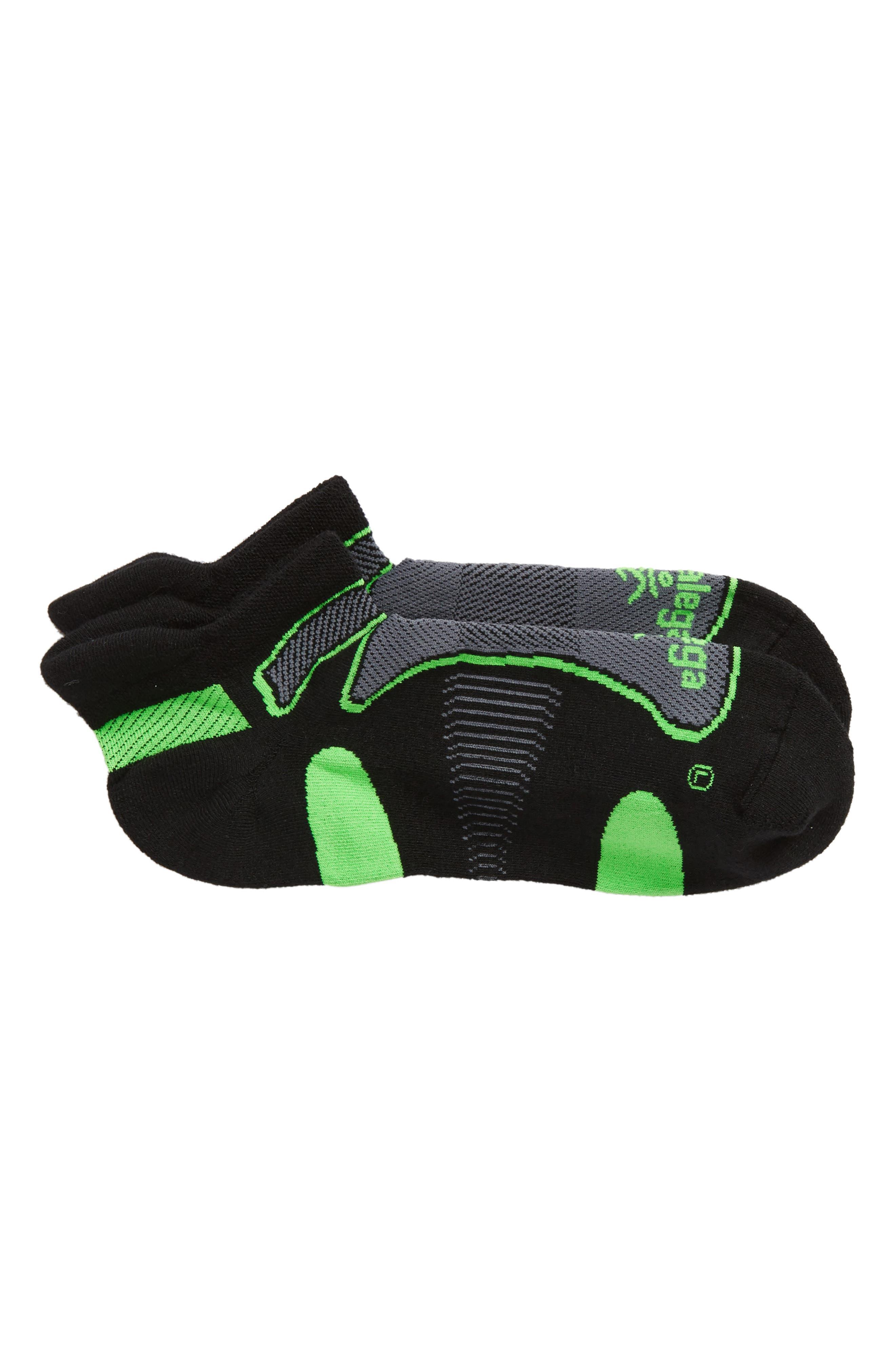 Ultra Light Socks,                             Main thumbnail 1, color,                             Black/ Lime