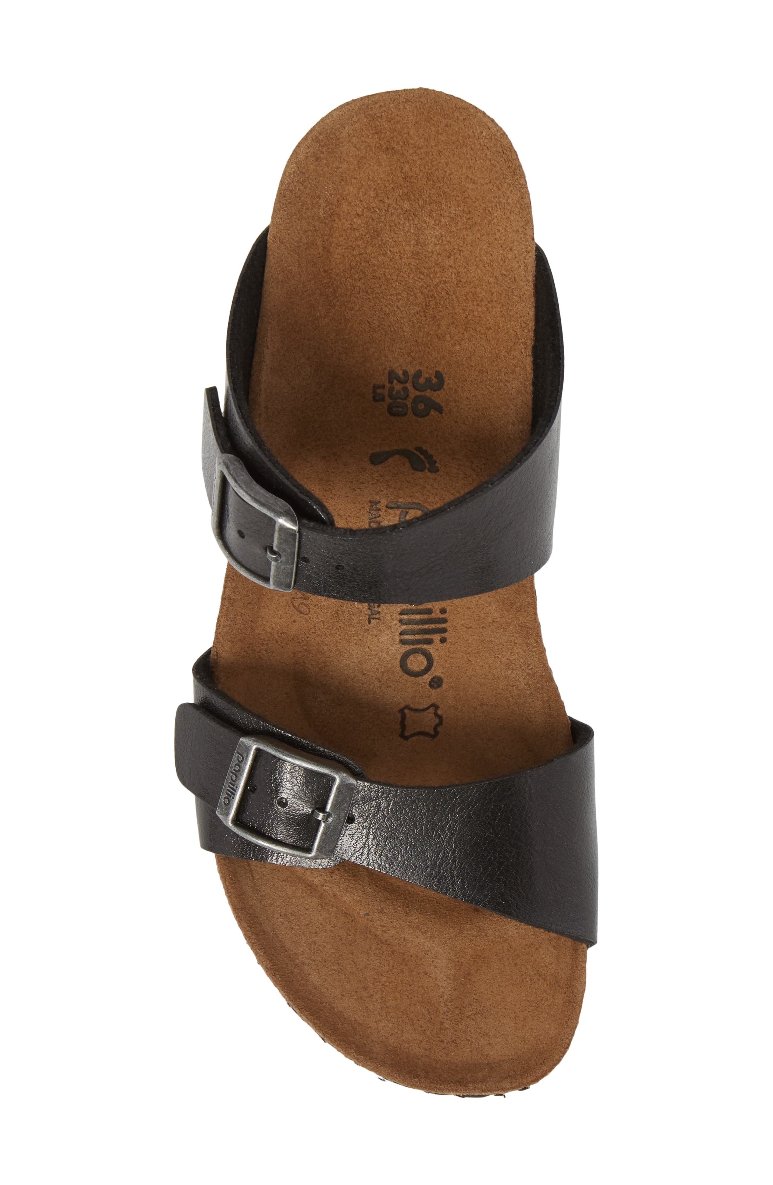 Papillio by Birkenstock Dorothy Wedge Slide Sandal,                             Alternate thumbnail 5, color,                             Graceful Licorice Leather