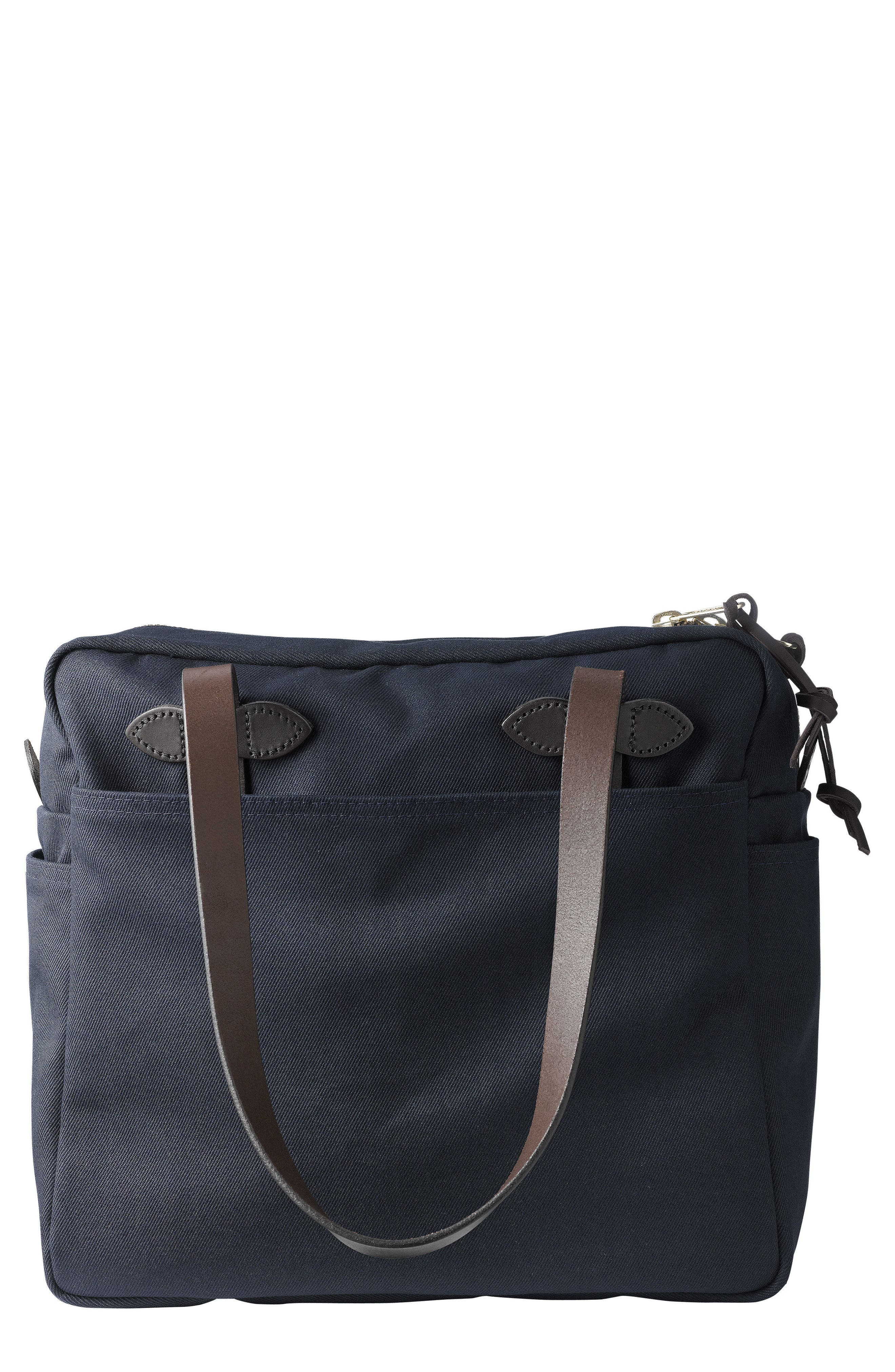FILSON RUGGED TWILL ZIP TOTE BAG - BLUE