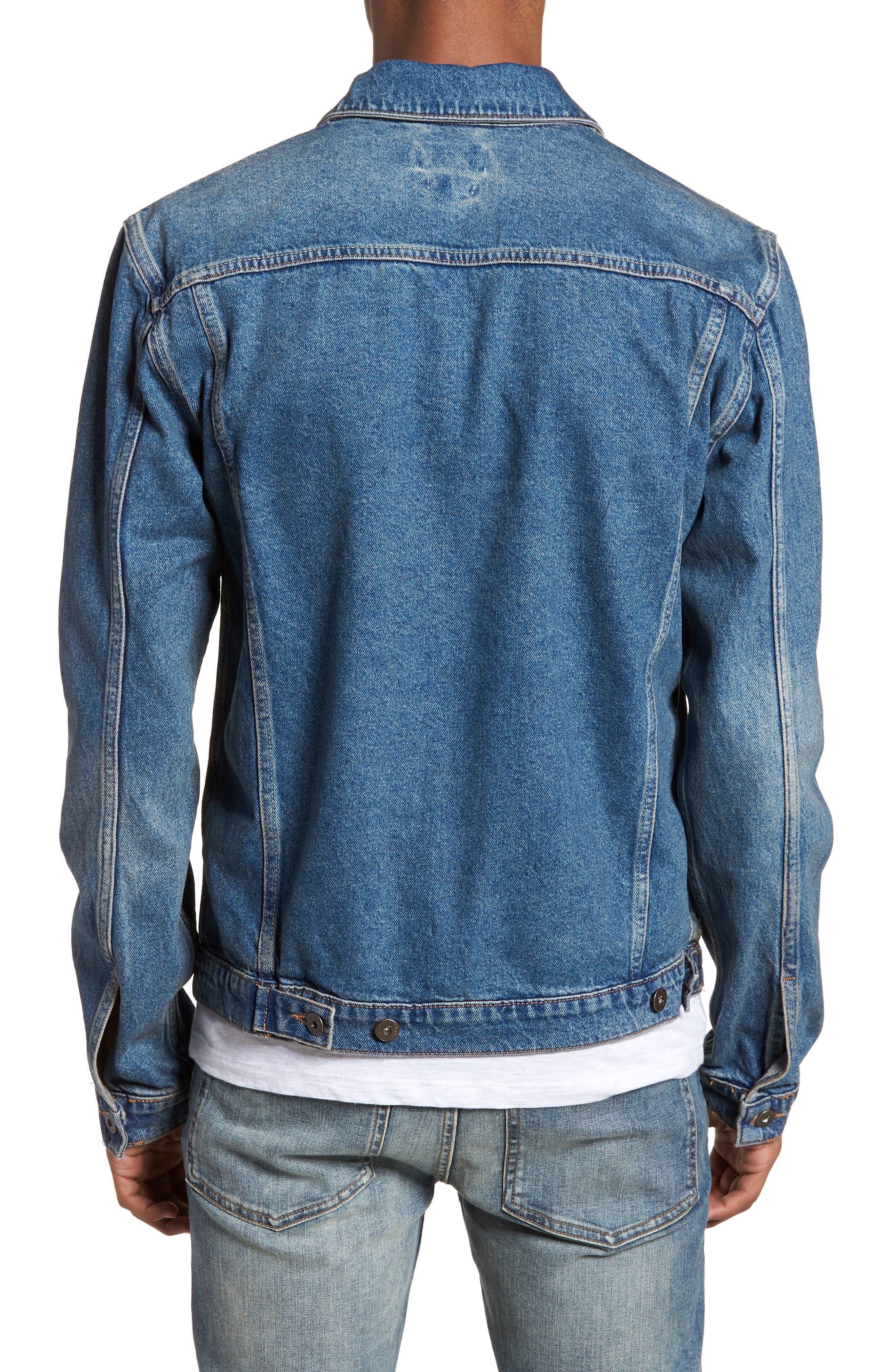 Alternate Image 2  - Topman Mid Wash Denim Jacket