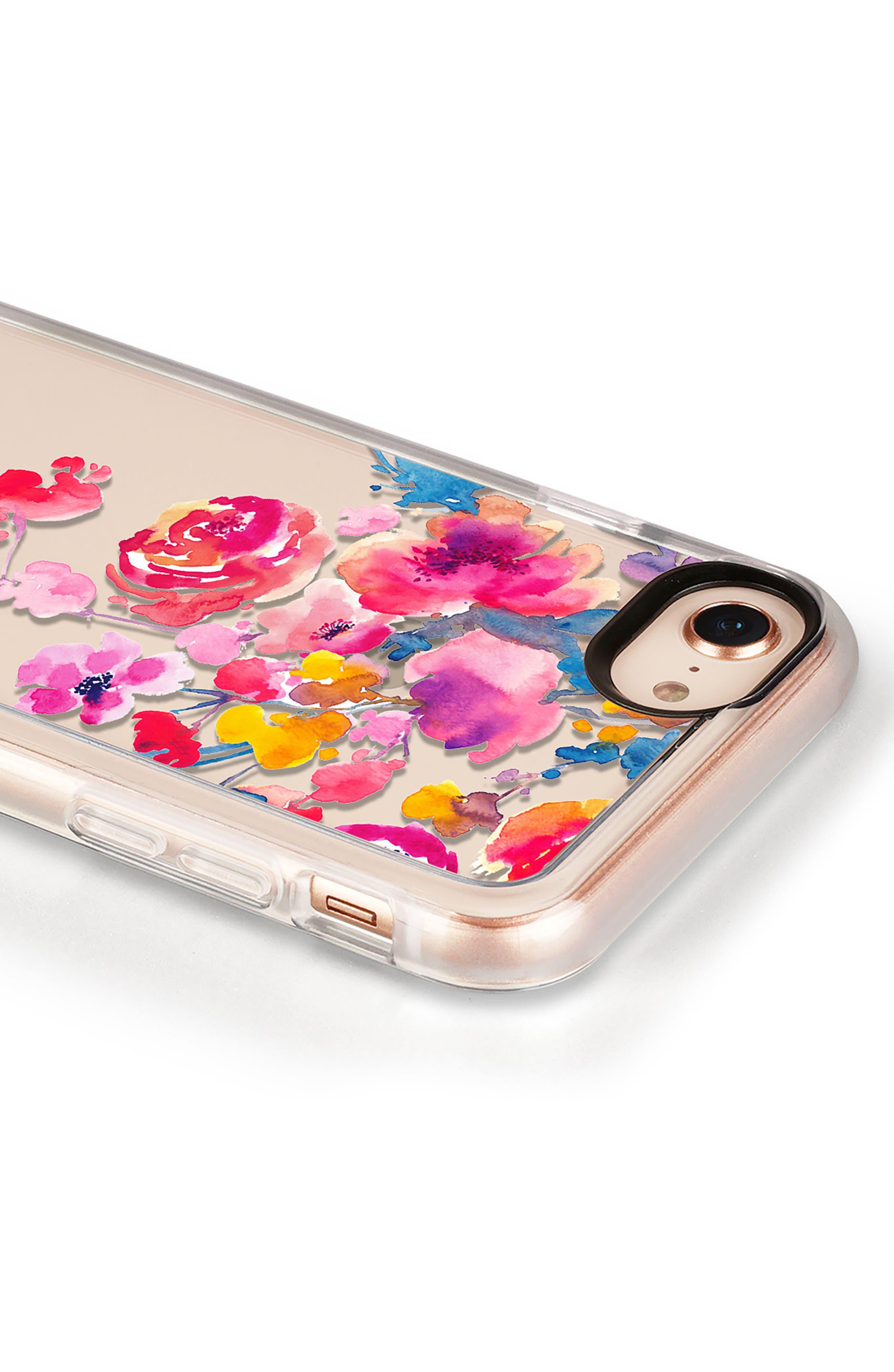 Watercolor Floral iPhone 7/8 & 7/8 Plus Case,                             Alternate thumbnail 7, color,                             Pink Multi