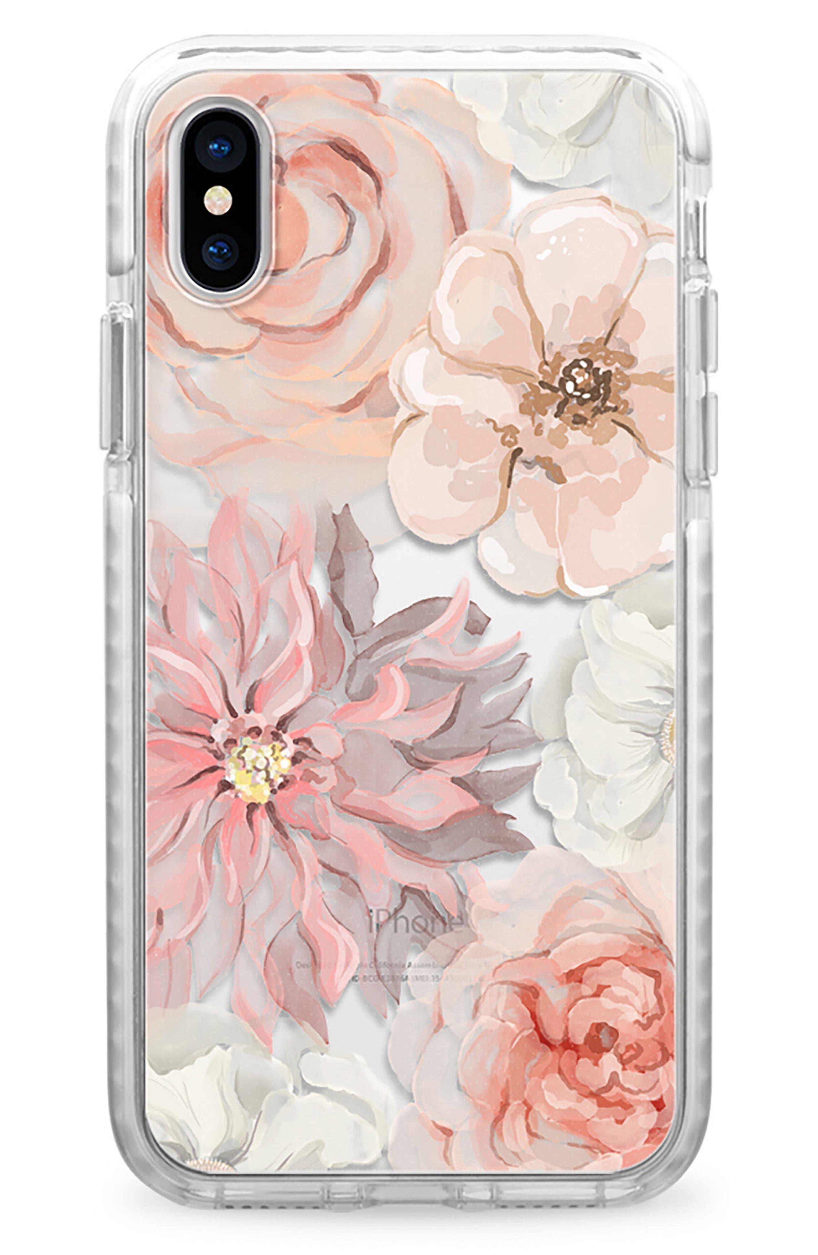 Pretty Blush iPhone X Case,                             Main thumbnail 1, color,                             Blush Pink