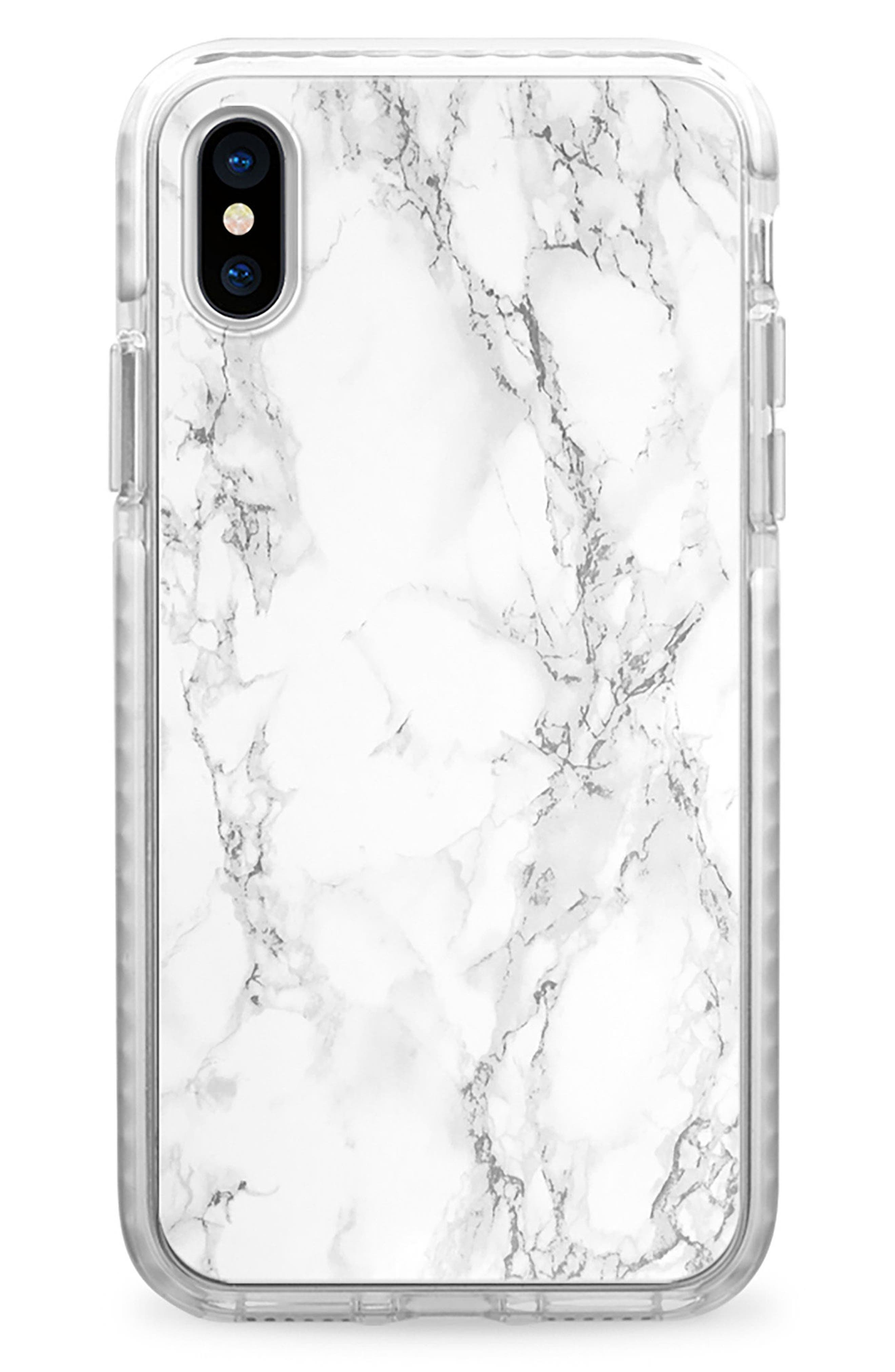 Alternate Image 1 Selected - Casetify White Marble iPhone X Case