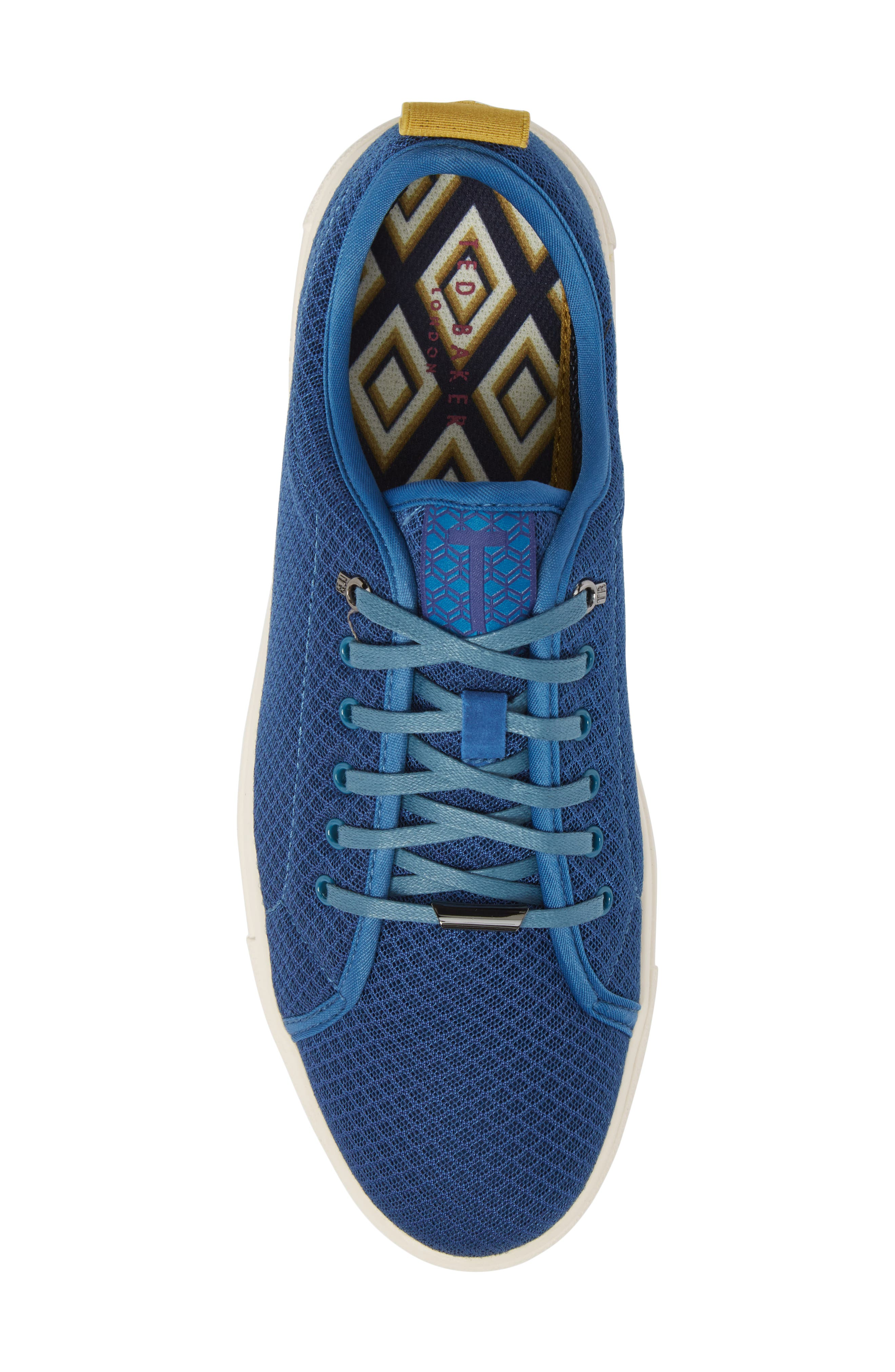 Lannse Low Top Mesh Sneaker,                             Alternate thumbnail 5, color,                             Blue Textile